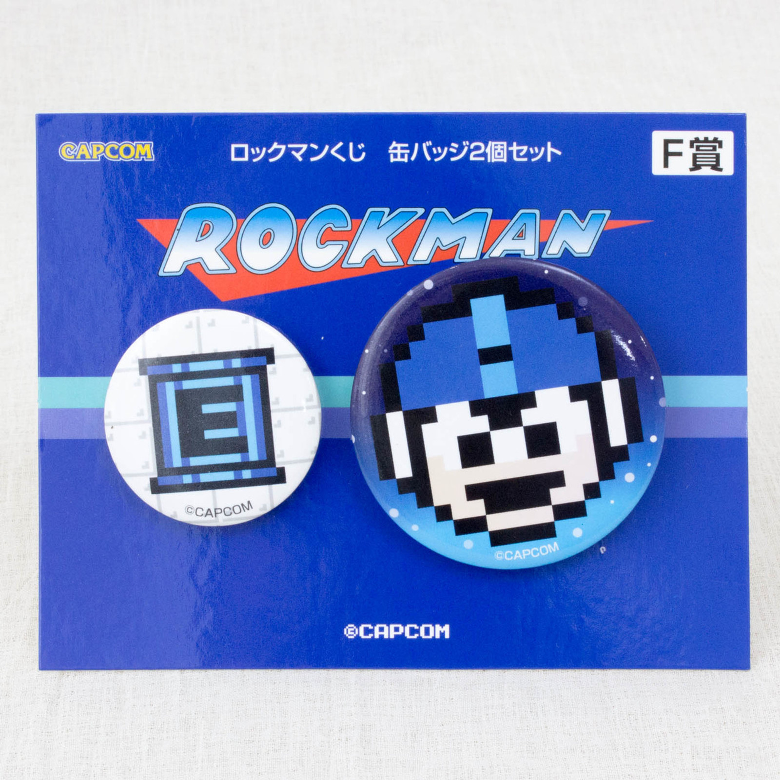 Rockman Pins Can Badge 2pc Set JAPAN GAME CAPCOM MEGAMAN