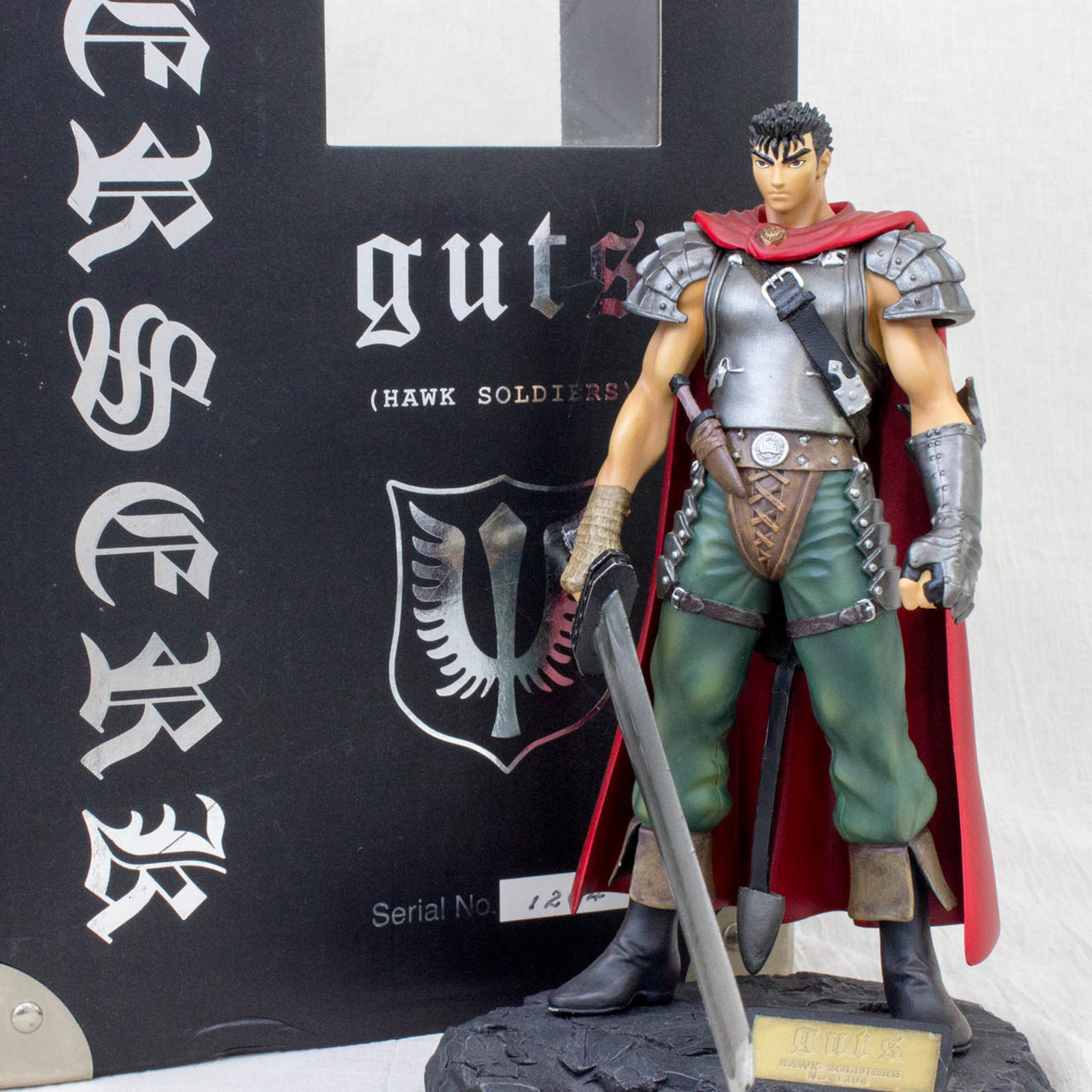 {Missing Parts} Berserk Guts Hawk Soldier Figure Limited Art of War JAPAN ANIME