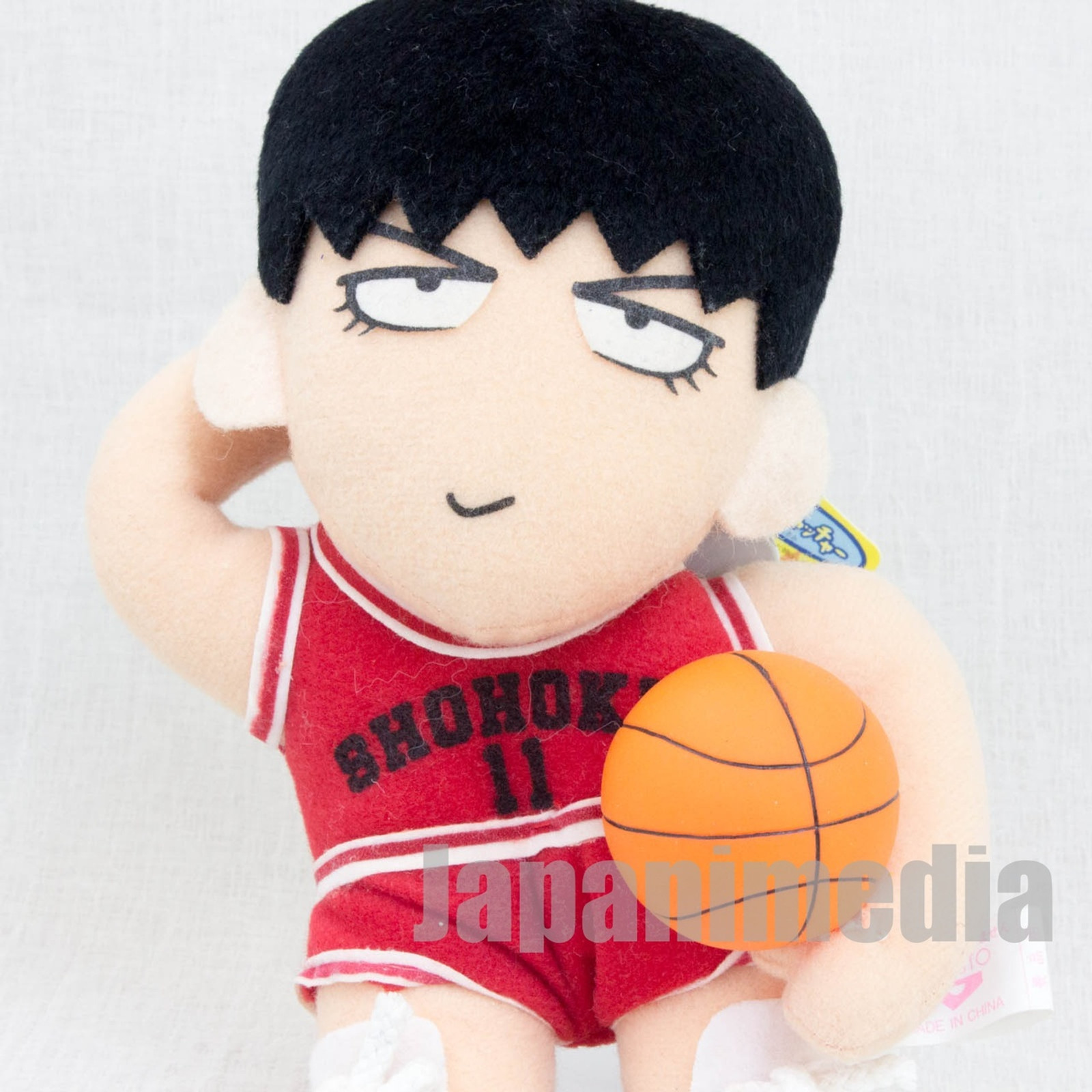 Slam Dunk Shohoku #11 Kaede Rukawa Plush Doll JAPAN ANIME MANGA JUMP
