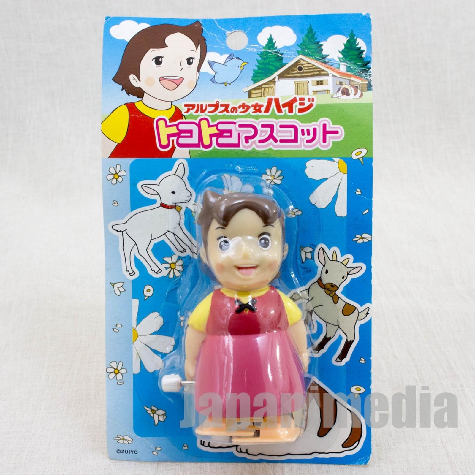 RARE Heidi Girl of the Alps Tokotoko Mascot Wind Up Figure JAPAN ANIME