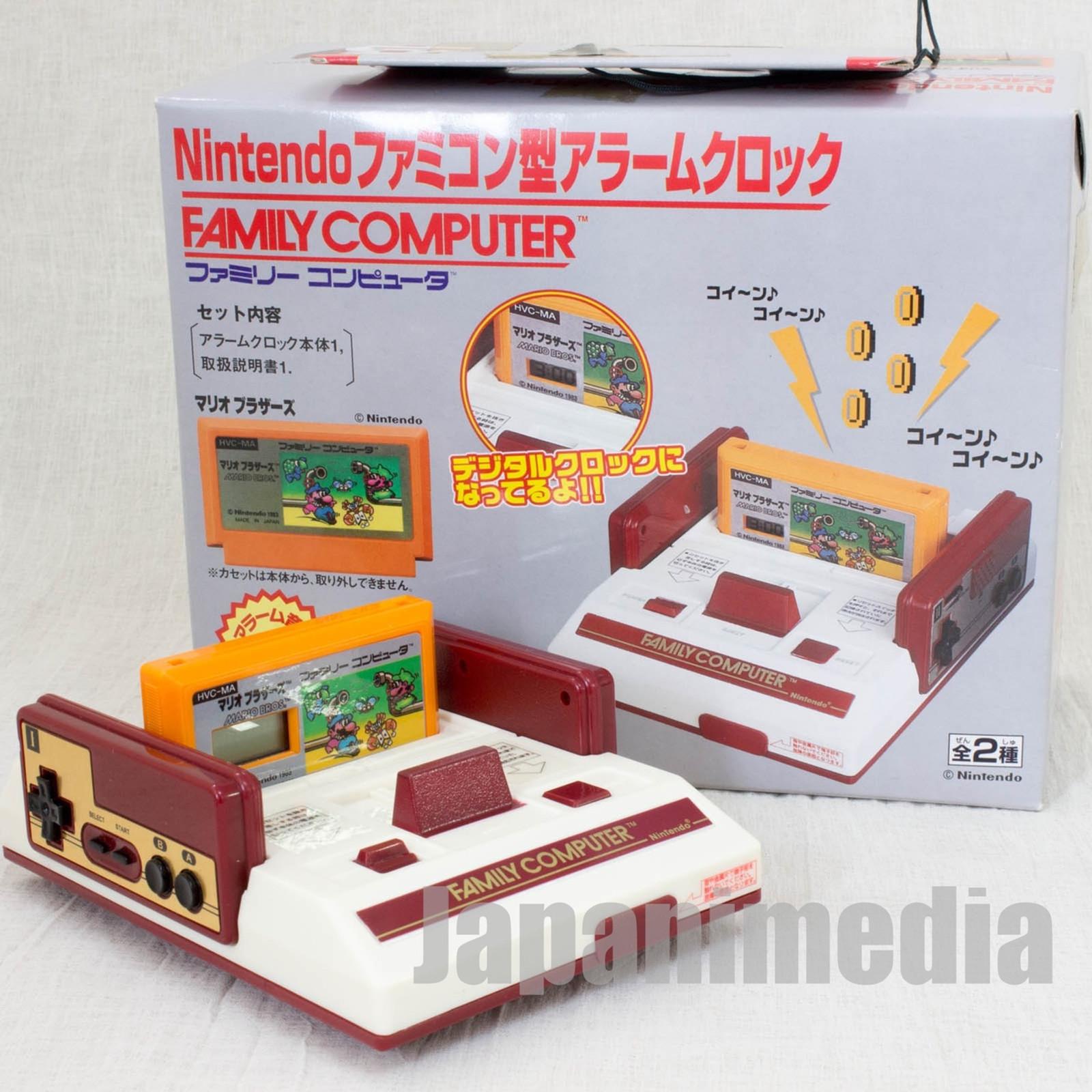 Nintendo Famicom Type Figure Alarm Clock Mario Bro. Ver. Banpresto JAPAN