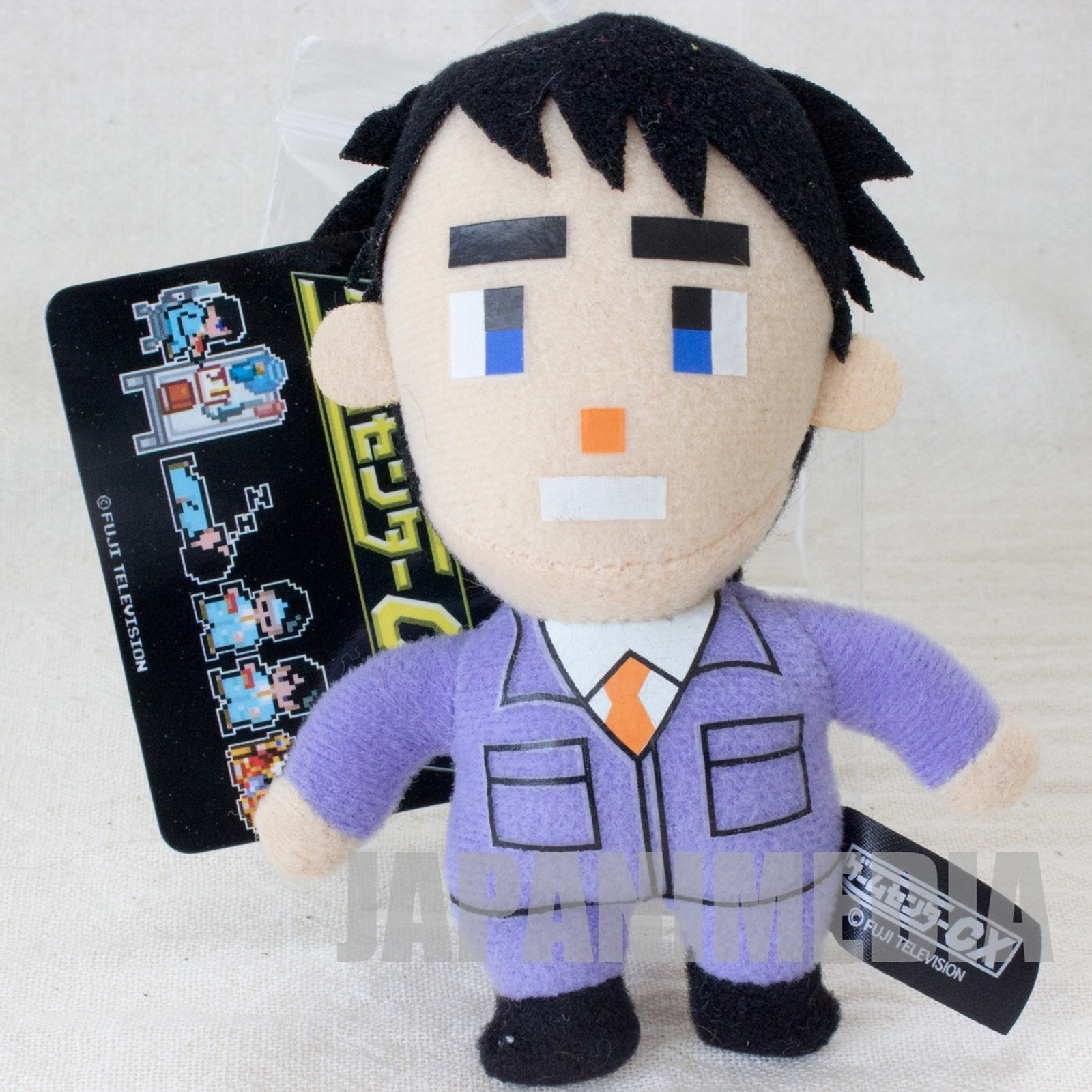 RARE Game Center CX Arino Kacho Mini Plush Doll Ballchain Fuji Television 2