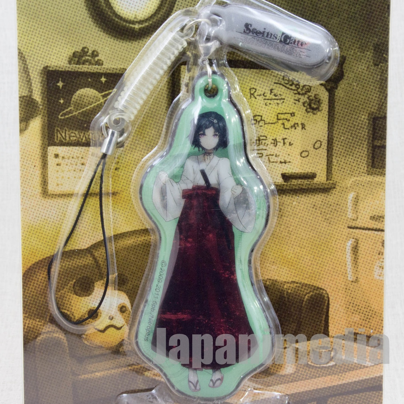 Steins ; Gate Ruka Urushibara Display Cleaner Mascot Strap Taito JAPAN ANIME