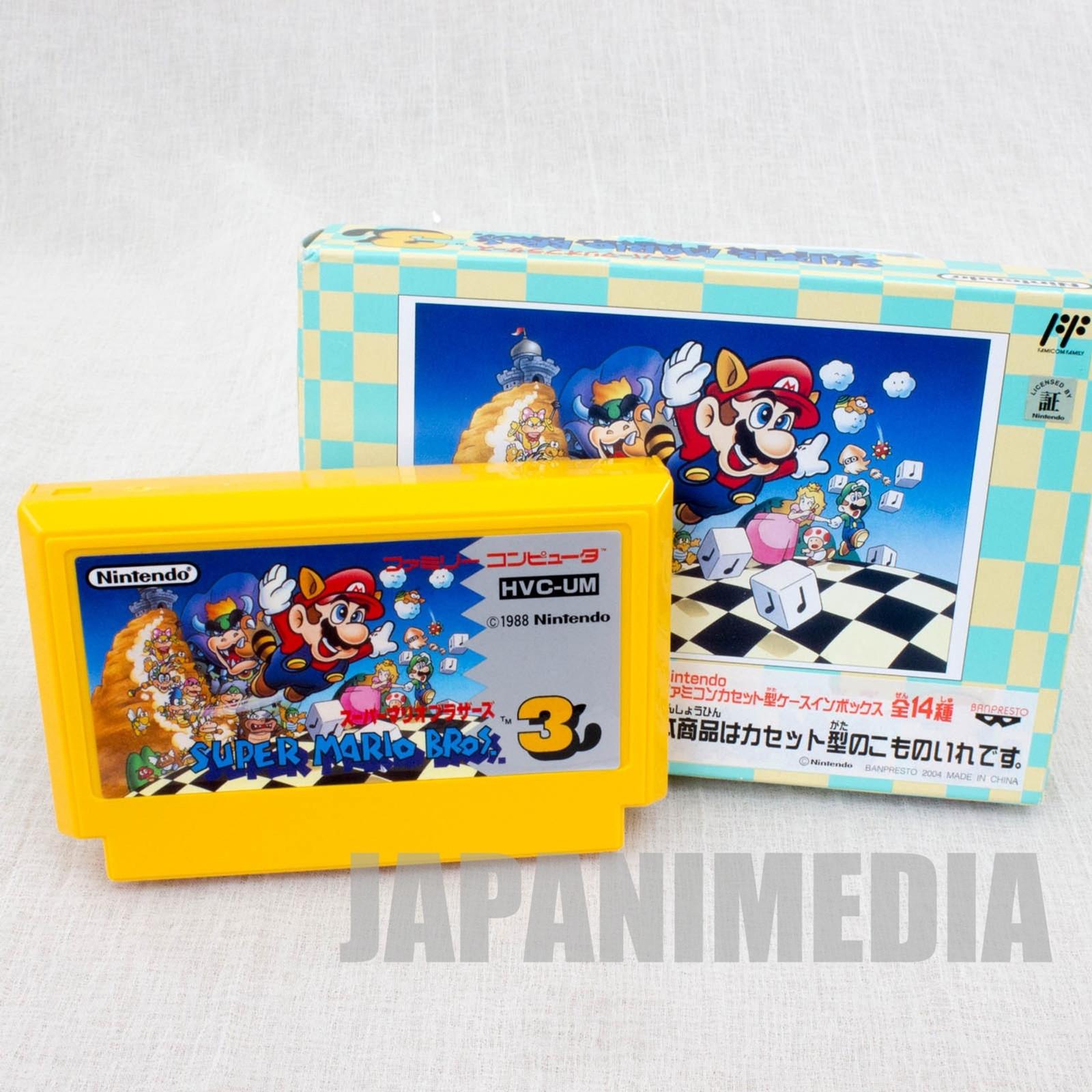 Super Mario Bros. 3 Cassette type Accessory Case Banpresto JAPAN Nintendo