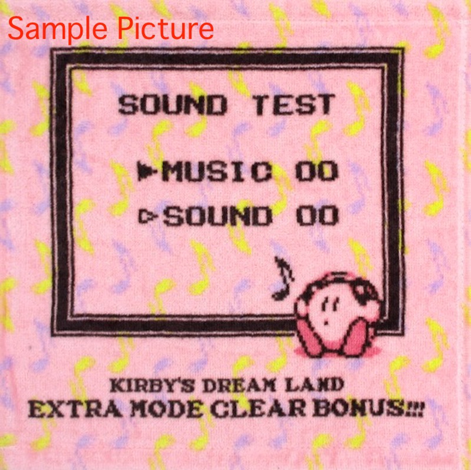 Kirby Super Star Mini Towel Sound Test Design Ver. Banpresto JAPAN GAME
