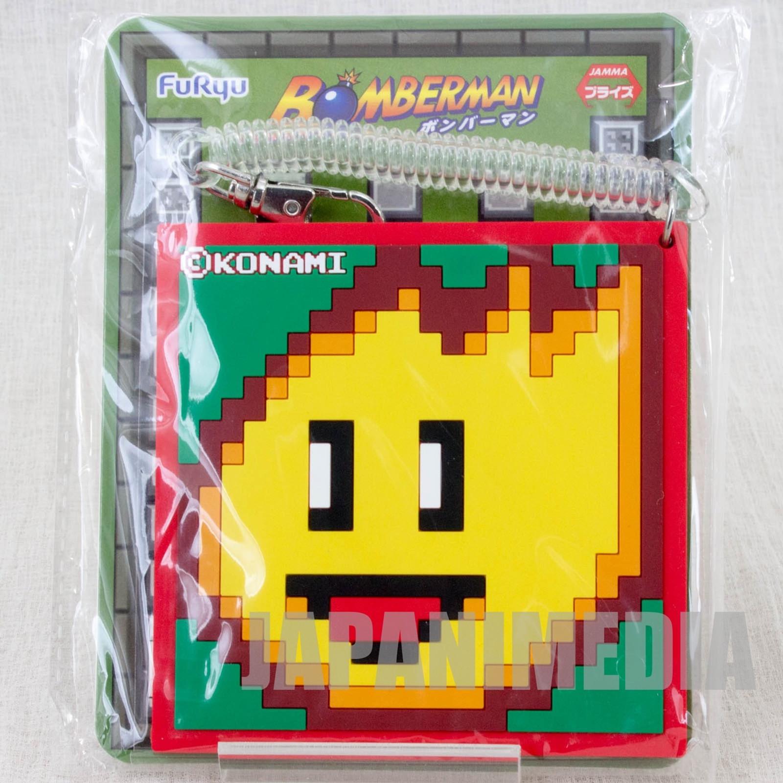Bomber Man Fire Up Rubber Pass Case Furyu Nintendo JAPAN NES Famicom 1