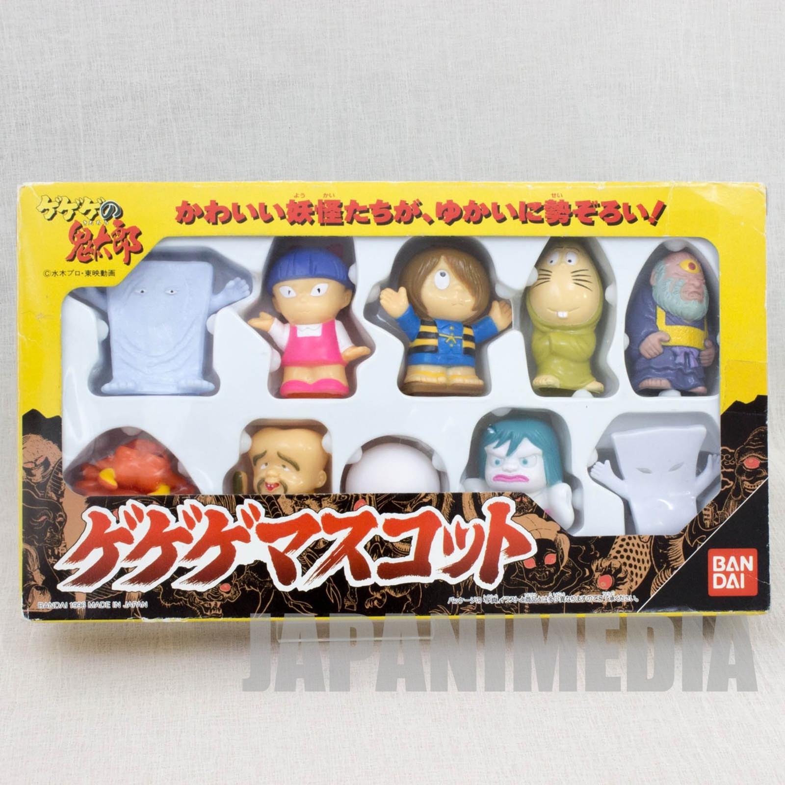 Gegege no Kitaro Soft Vinyl Mascot Figure 10pc Set BANDAI JAPAN ANIME YOKAI