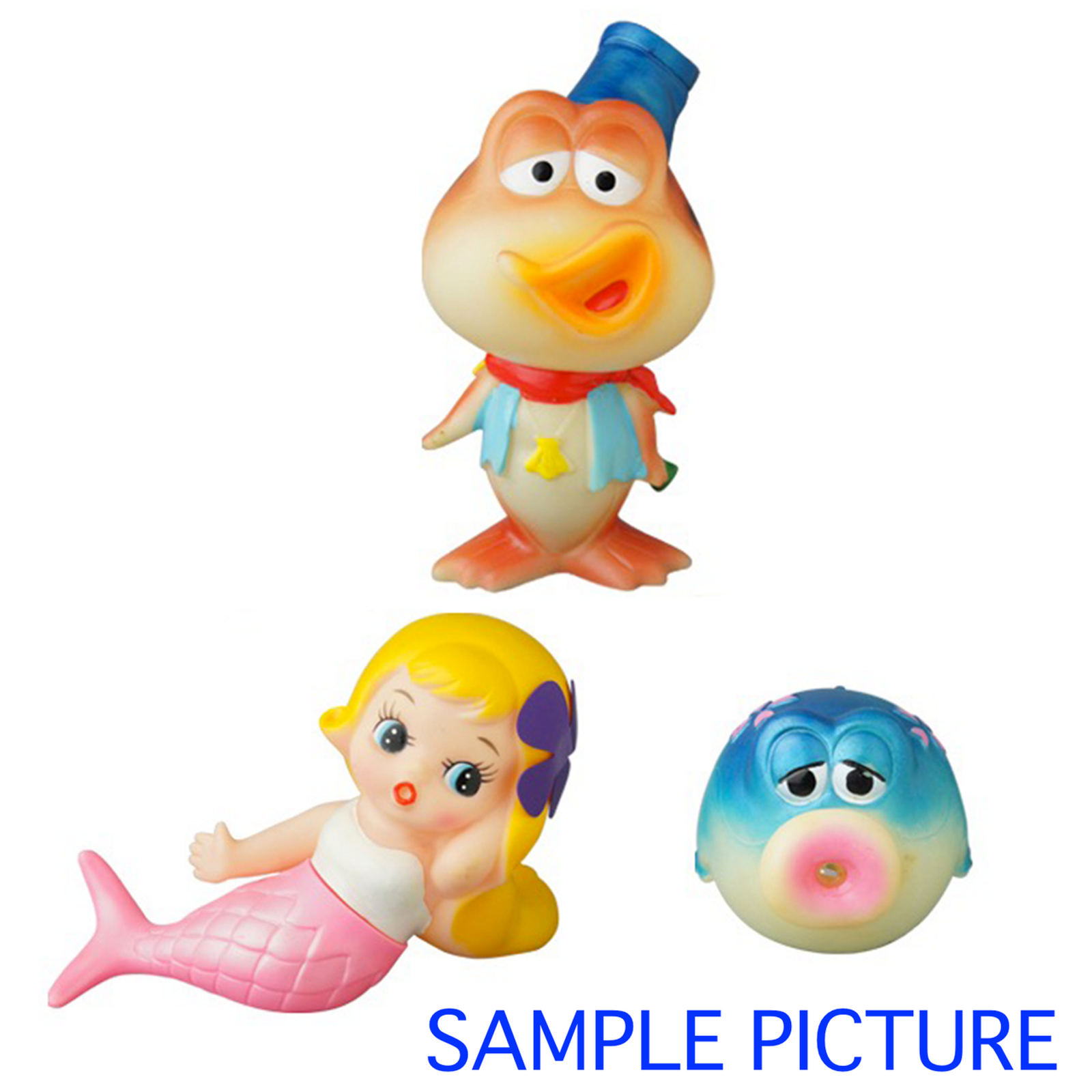 RARE! Hazedon Shiran Puyan Soft Vinyl Figure 3pc Set Medicom Toy JAPAN ANIME