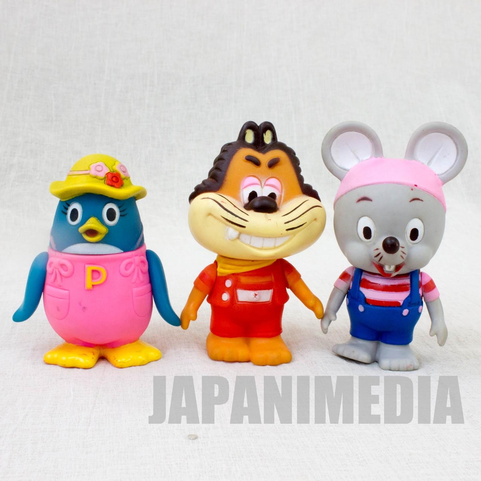 Nikonikopun Soft Vinyl Figure 3pc Set Jajamaru Piccolo Porori NHK JAPAN