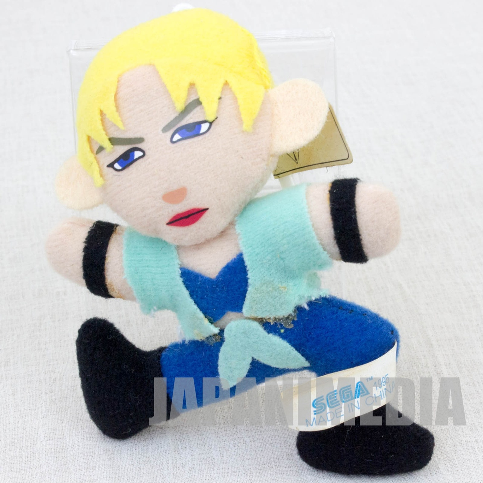 "Virtua Fighter 2 Sarah Bryant 3.5"" Mini Plush Doll SEGA 1995 JAPAN GAME 2"