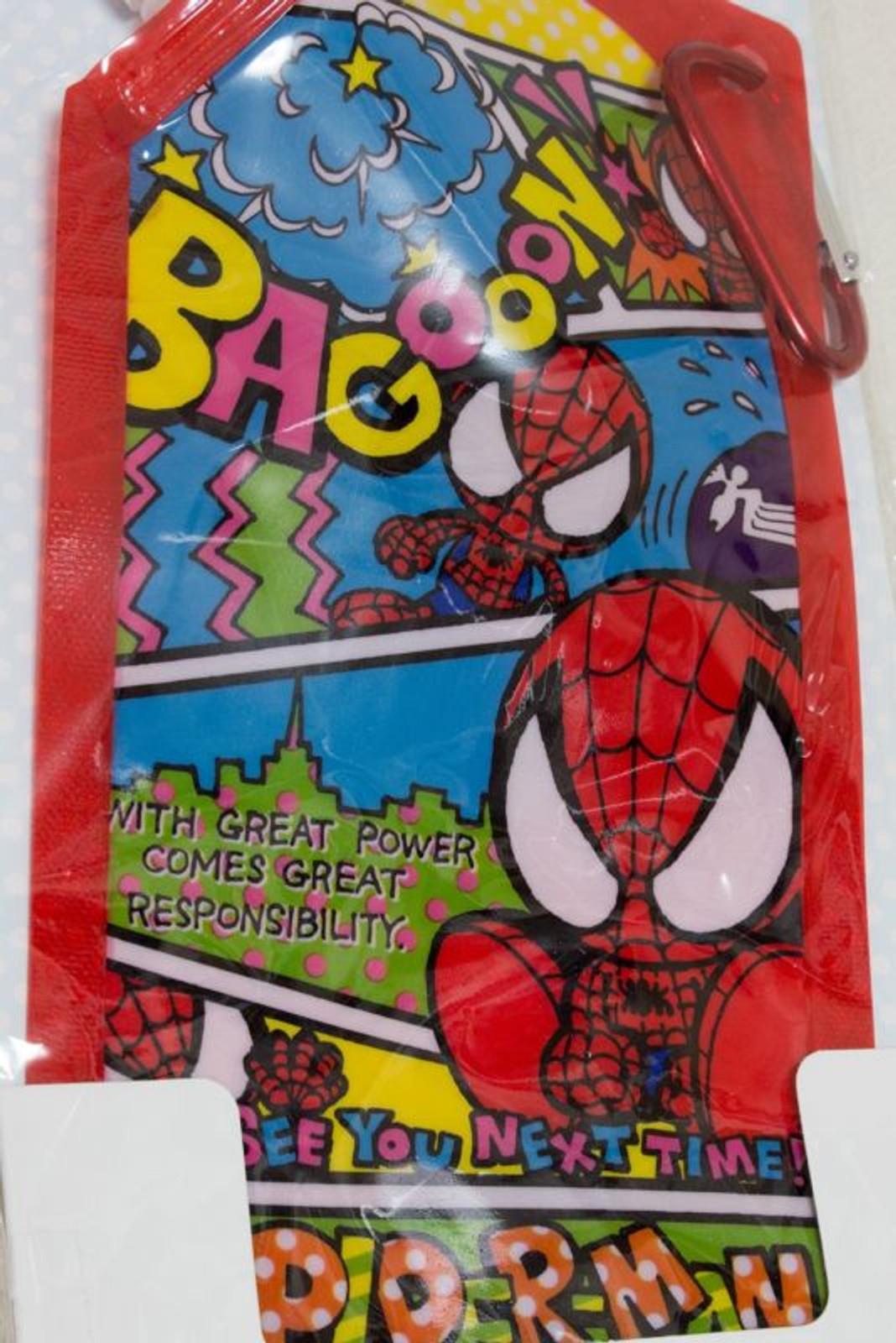 Spiderman Foldable Portable Water Bottle 500ml Universal Studios JAPAN ANIME