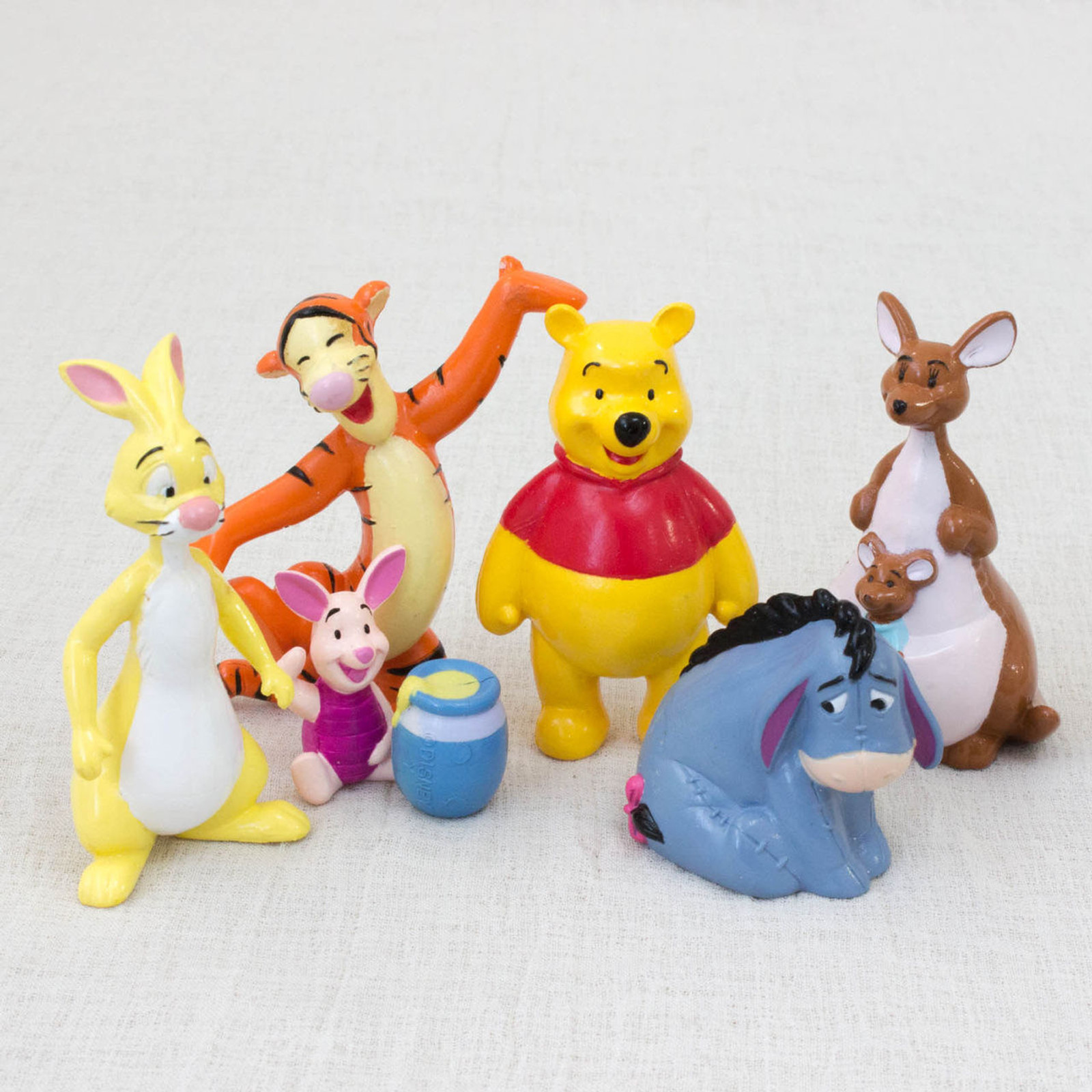 RARE! Winnie the Pooh Movie Friends Mini Figure Set Yutaka JAPAN