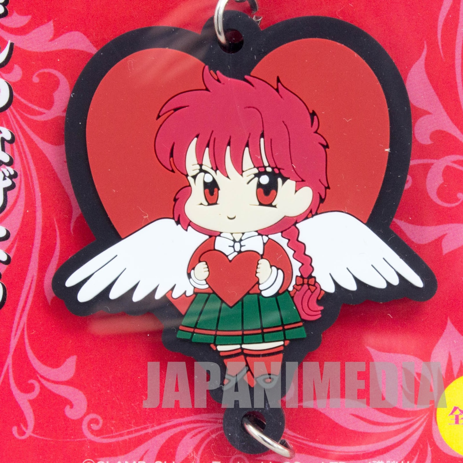 Magic Knight Rayearth Hikaru Shido Mascot Rubber Strap Clamp JAPAN ANIME