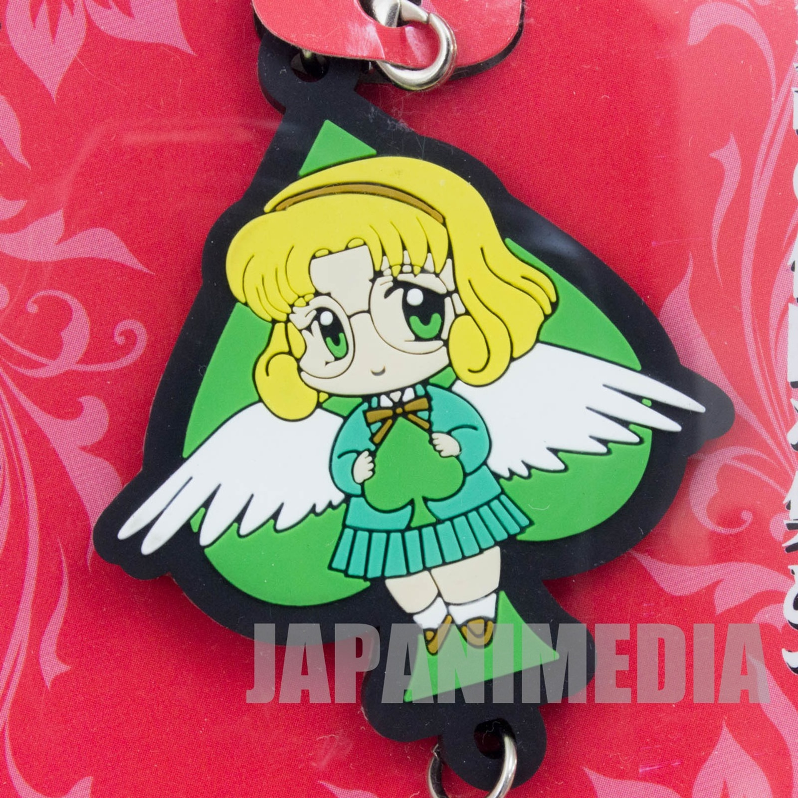 Magic Knight Rayearth Hououji Fu Mascot Rubber Strap Clamp JAPAN ANIME