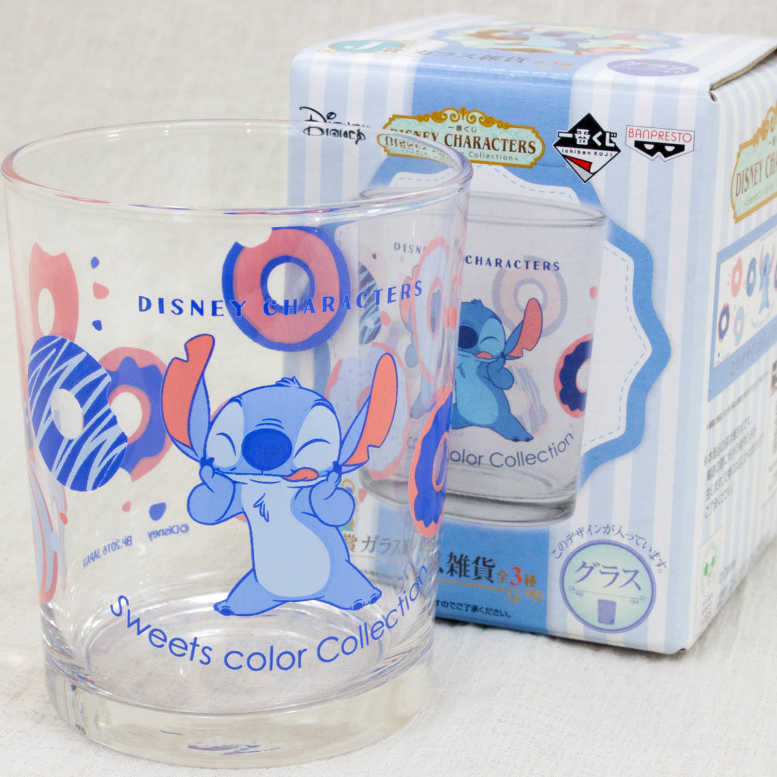 Disney Stitch Glass Disney Character Sweet Color Collection JAPAN ANIME