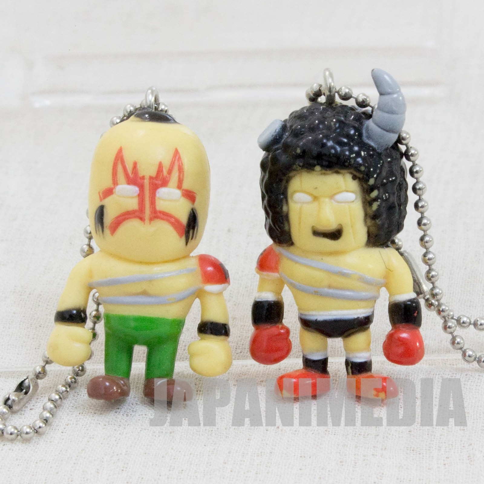 KINNIKUMAN Buffaloman + Mongolman Set Panson Works Mini Figure Ballchain JAPAN