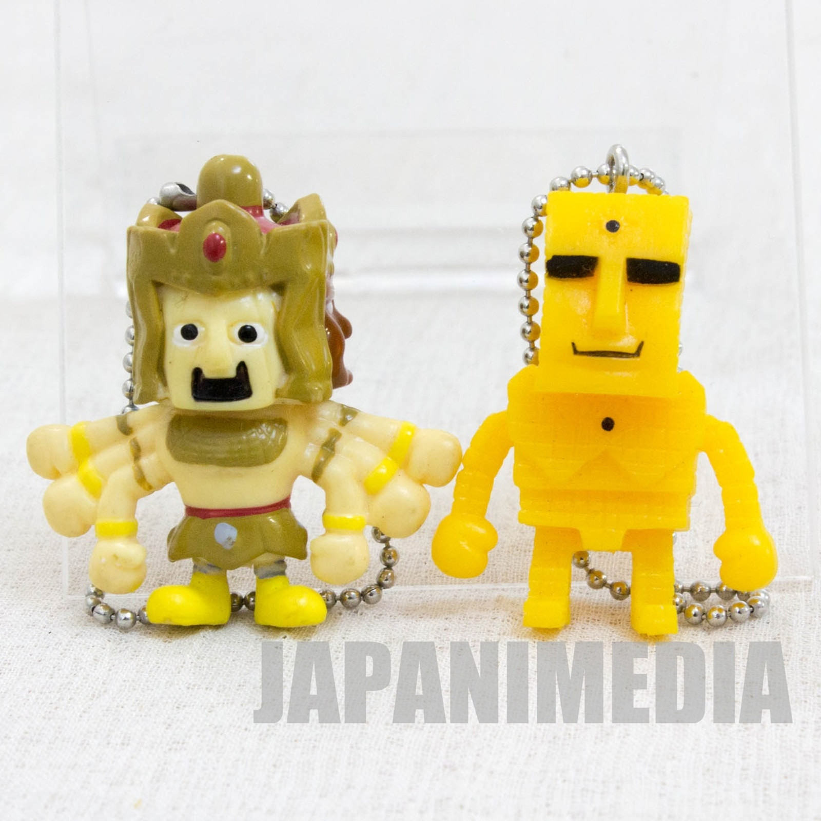 Kinnikuman Ashuraman + Sunshine Set Panson Works Mini Figure Ballchain JAPAN