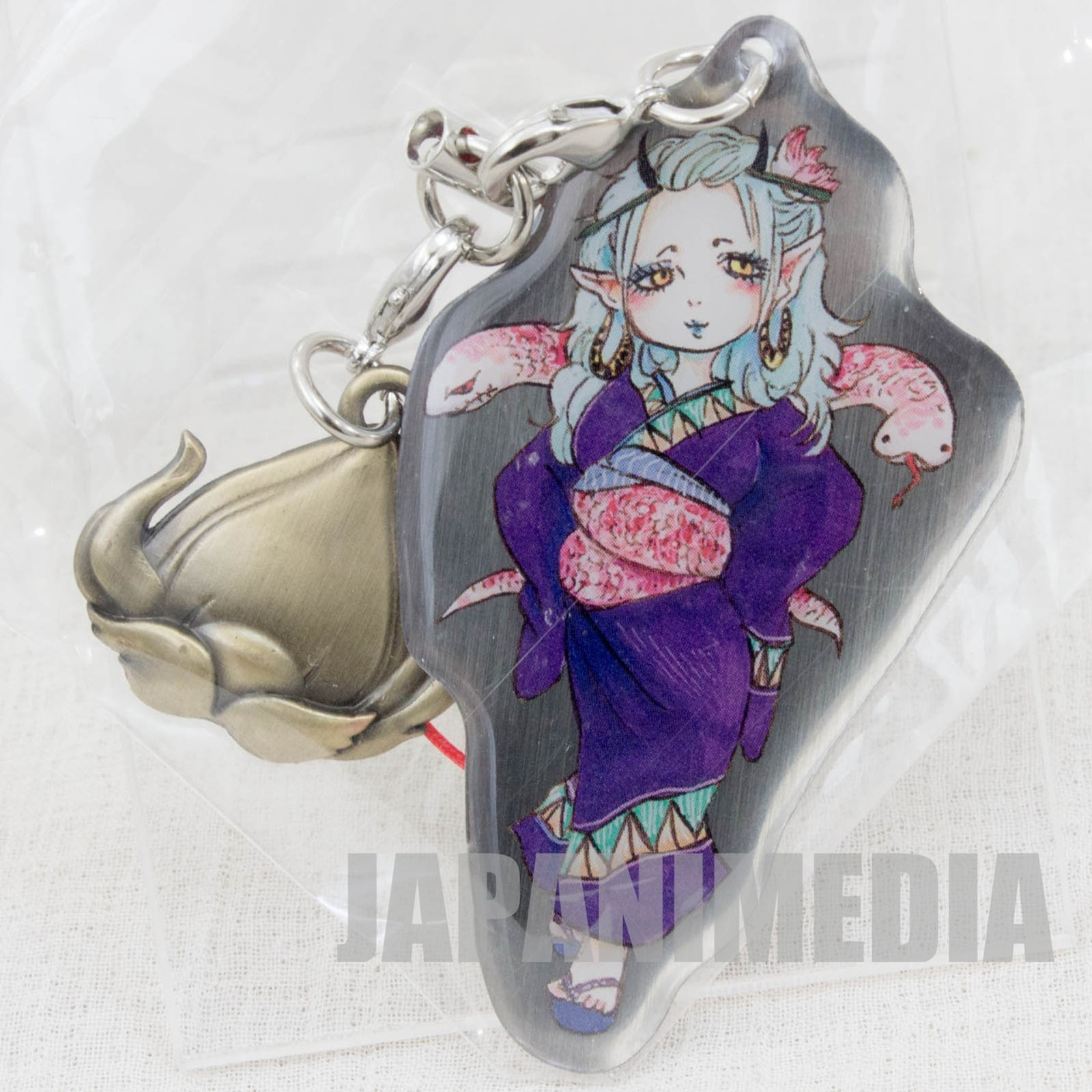 Hoozuki no Reitetsu Okou Metal Plate Mascot Strap JAPAN ANIME MANGA