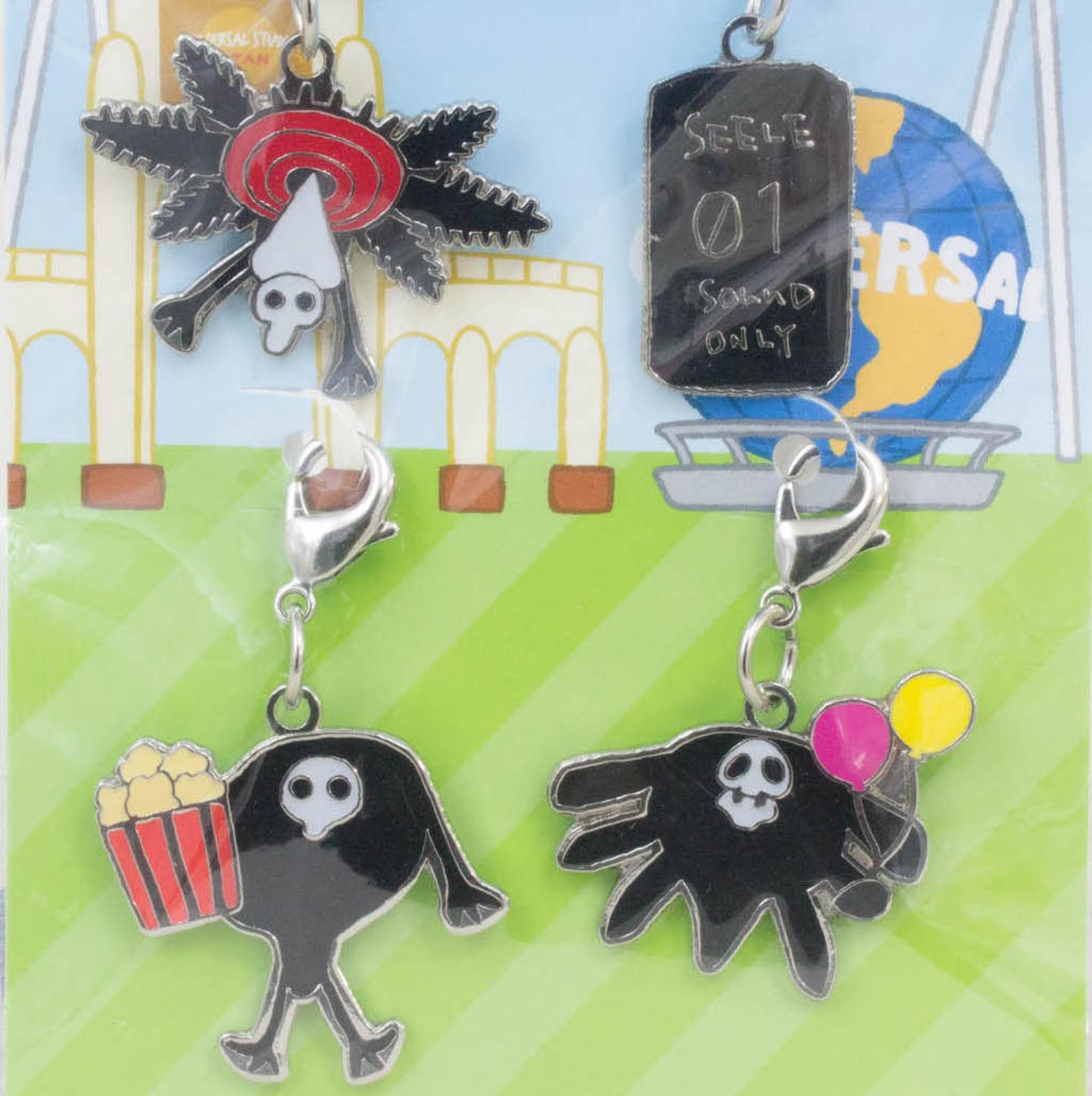 Evangelion Yuru-Shito Angel Mascot Metal Charm 4pc Set USJ JAPAN ANIME