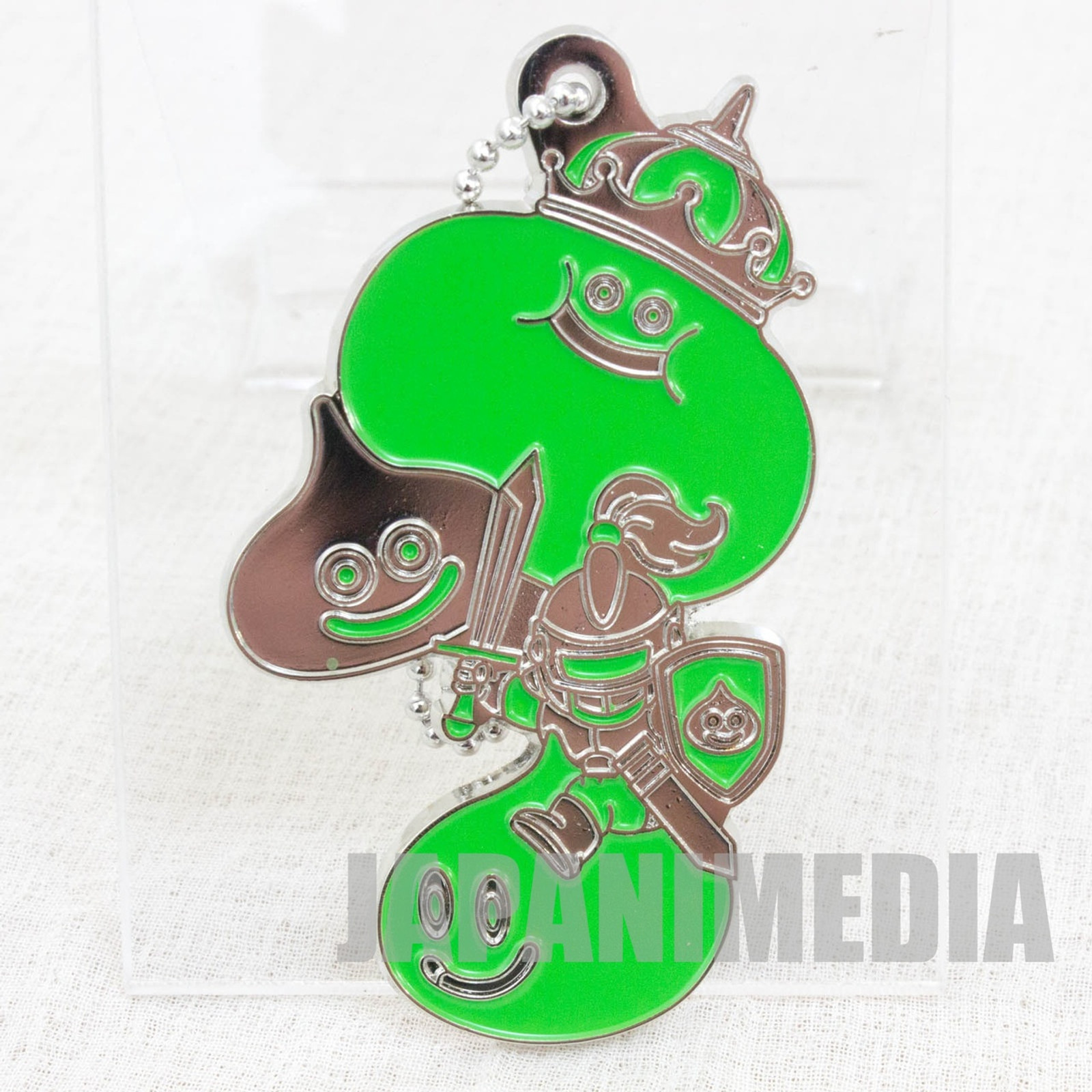 Dragon Quest Monster Metal Charm Strap Green Ver. Slime Hunter JAPAN GAME