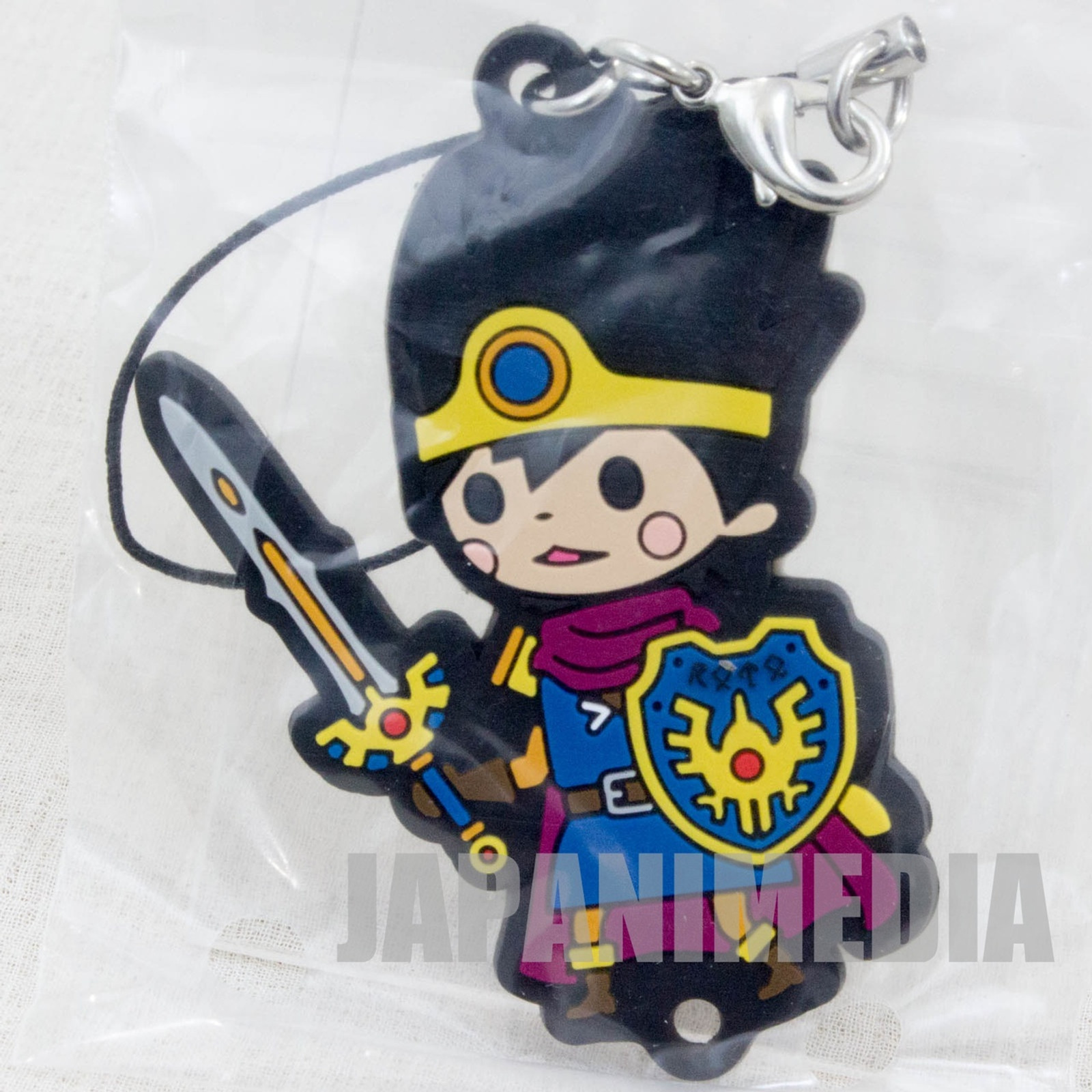 Dragon Quest Theatrhythm Rubber Charm Strap Hero 3 JAPAN GAME WARRIOR