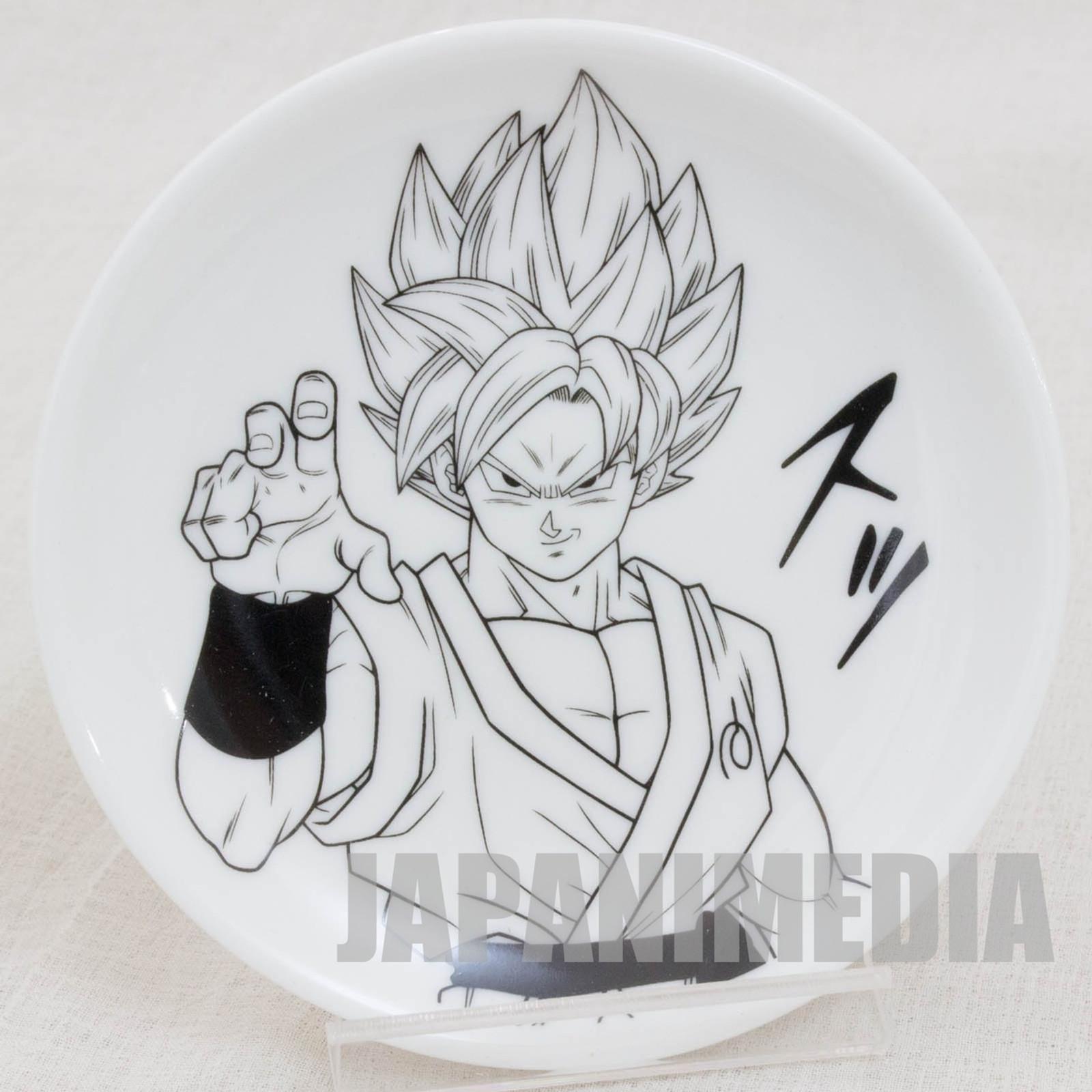 Dragon Ball Z Small Plate Dish S.Saiyan Gokou JAPAN ANIME