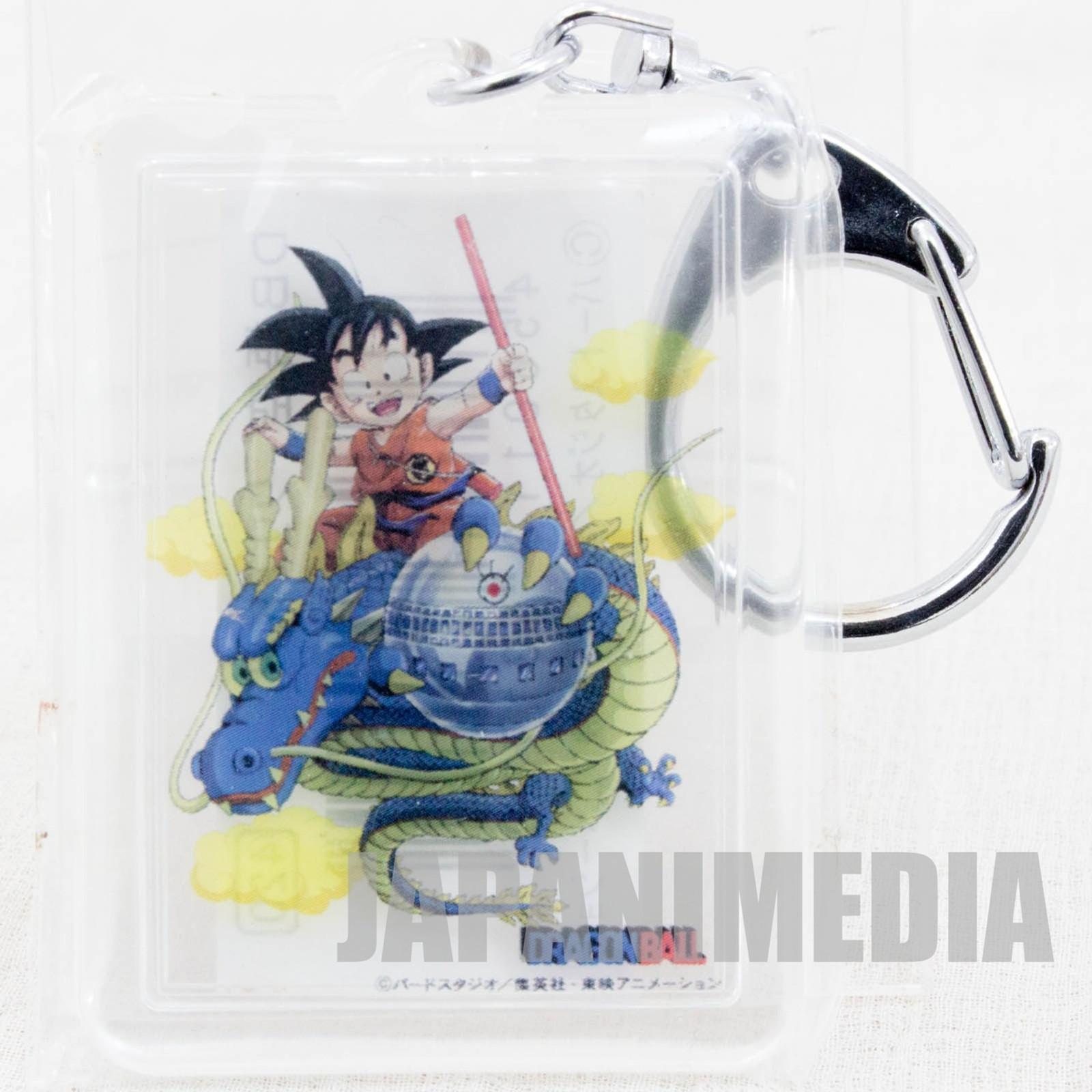 RARE! Dragon Ball Z Son Gokou Fuji TV Acrylic Plate Key Chain JAPAN ANIME