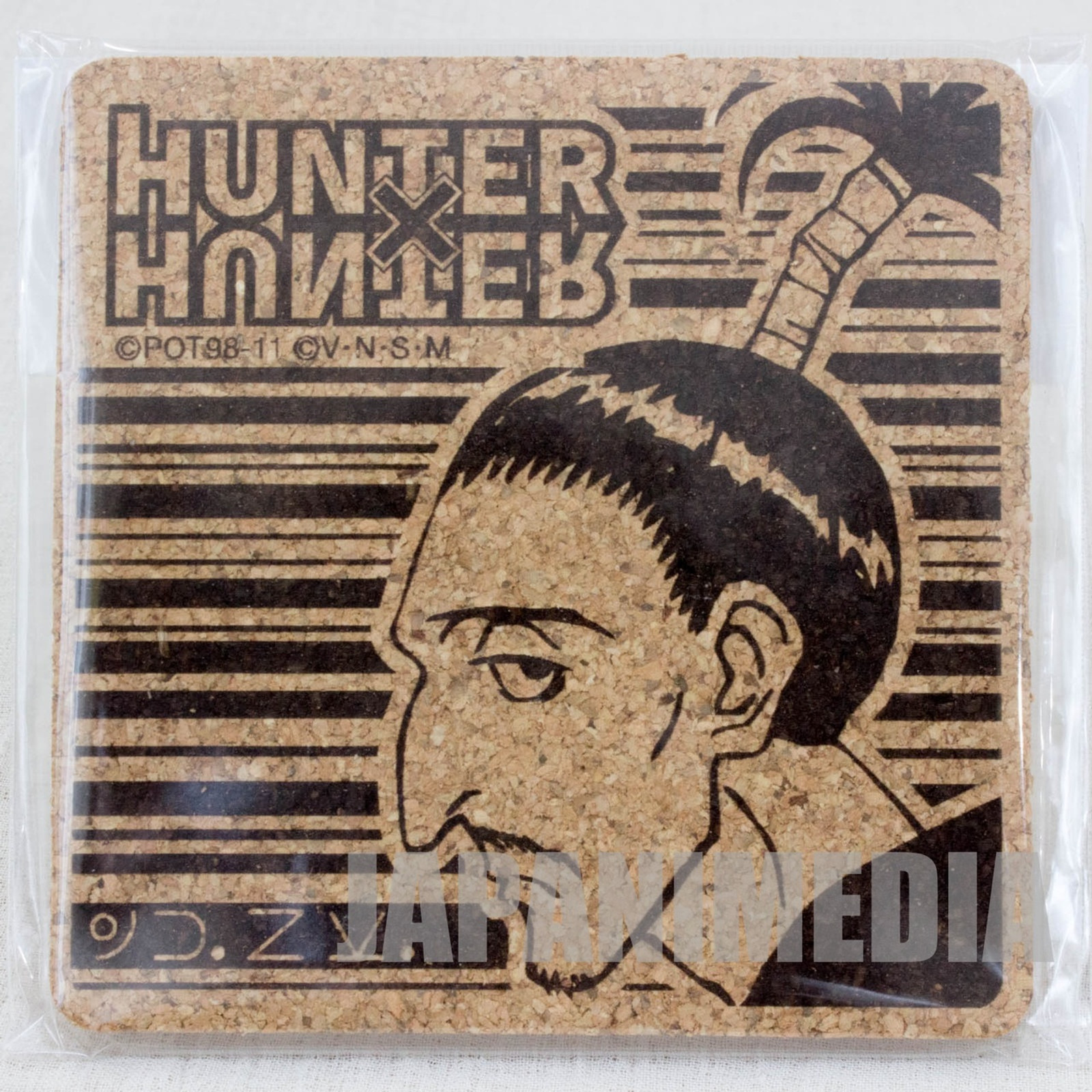 RARE! HUNTER x HUNTER Nobunaga Cork Coaster JAPAN ANIME MANGA SHONEN JUMP