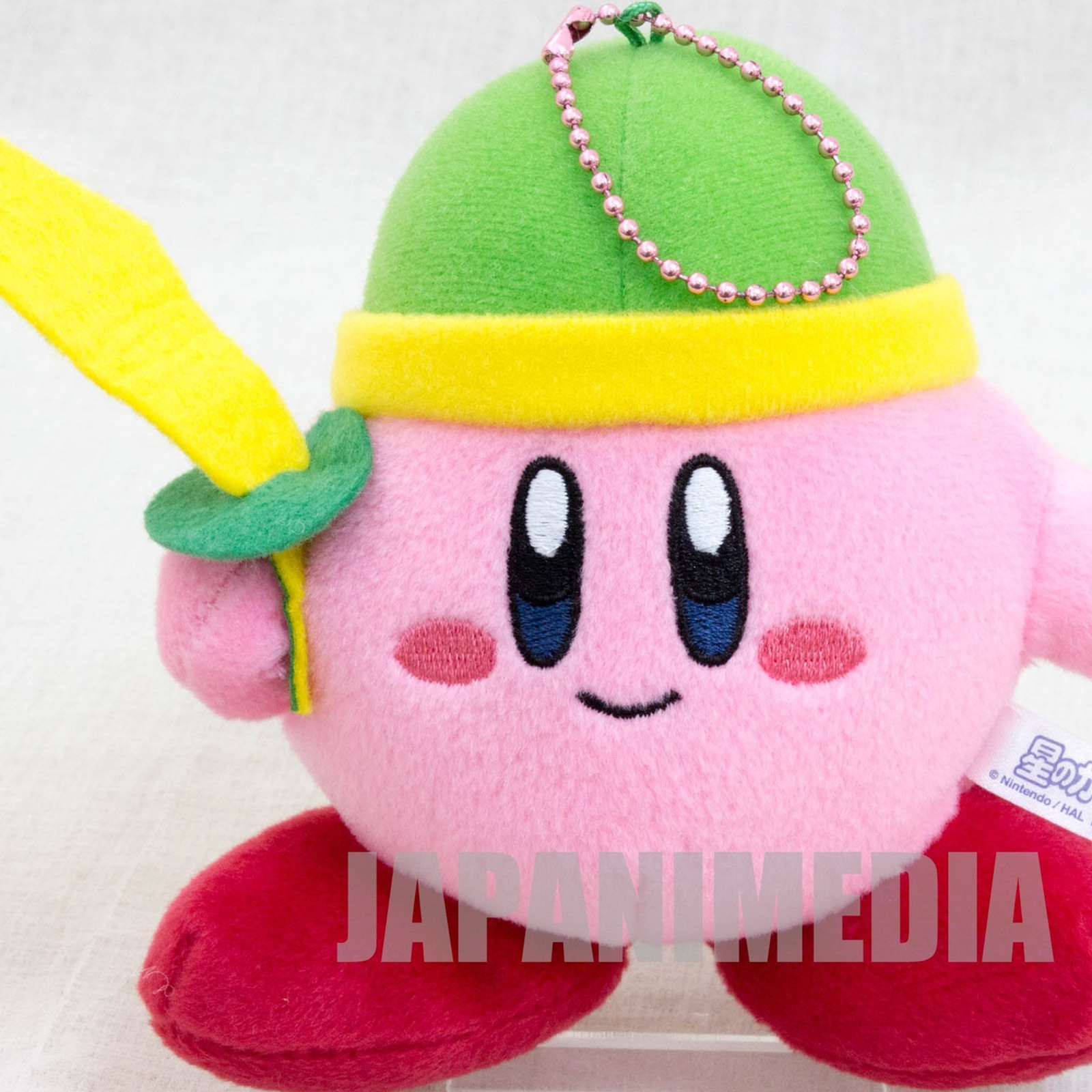 Kirby Super Star Sword Kirby Plush Doll Ballchain Banpresto JAPAN GAME NINTNEDO 2