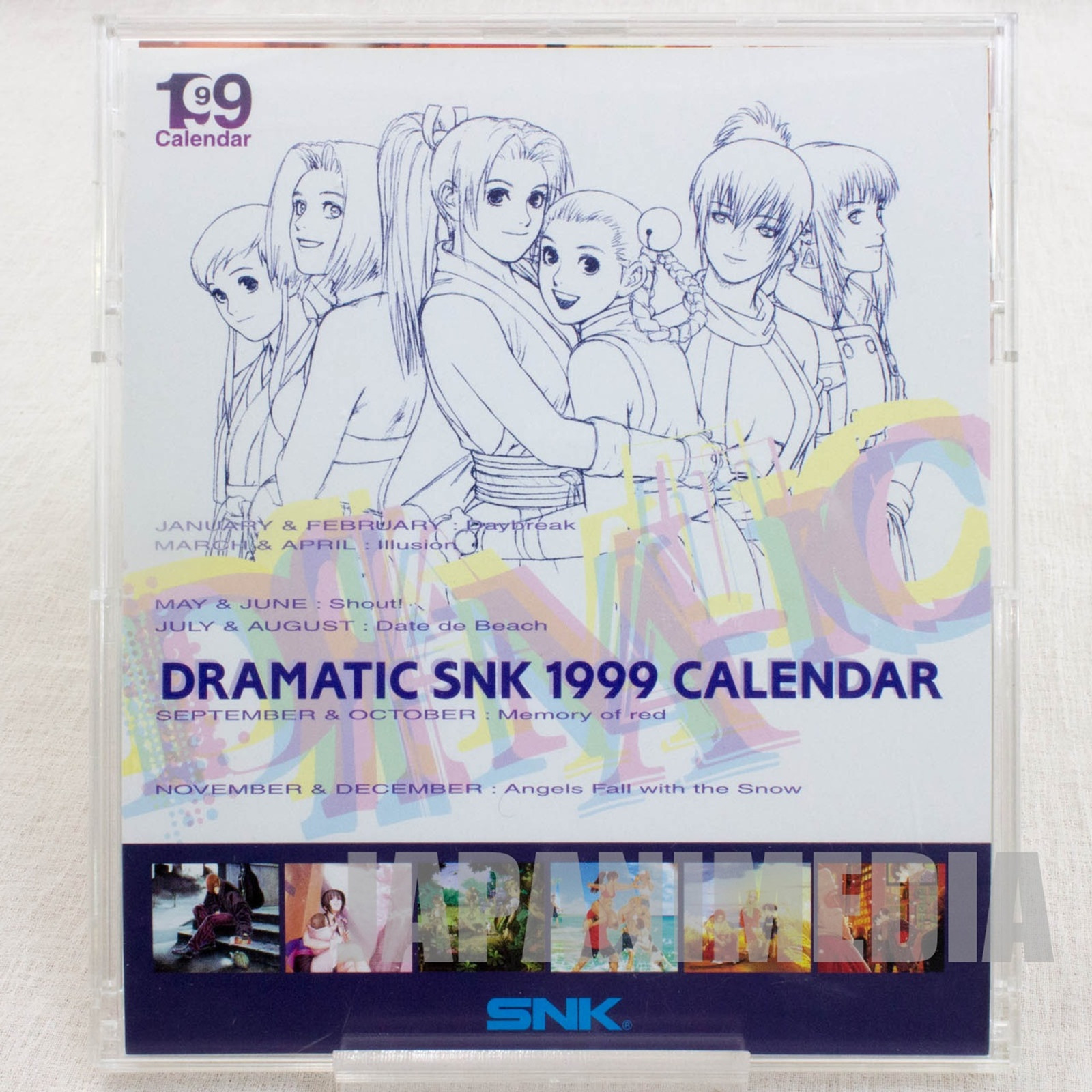 Dramatic SNK 1999 Desktop Card Calendar JAPAN NEO GEO KING OF FIGHTERS