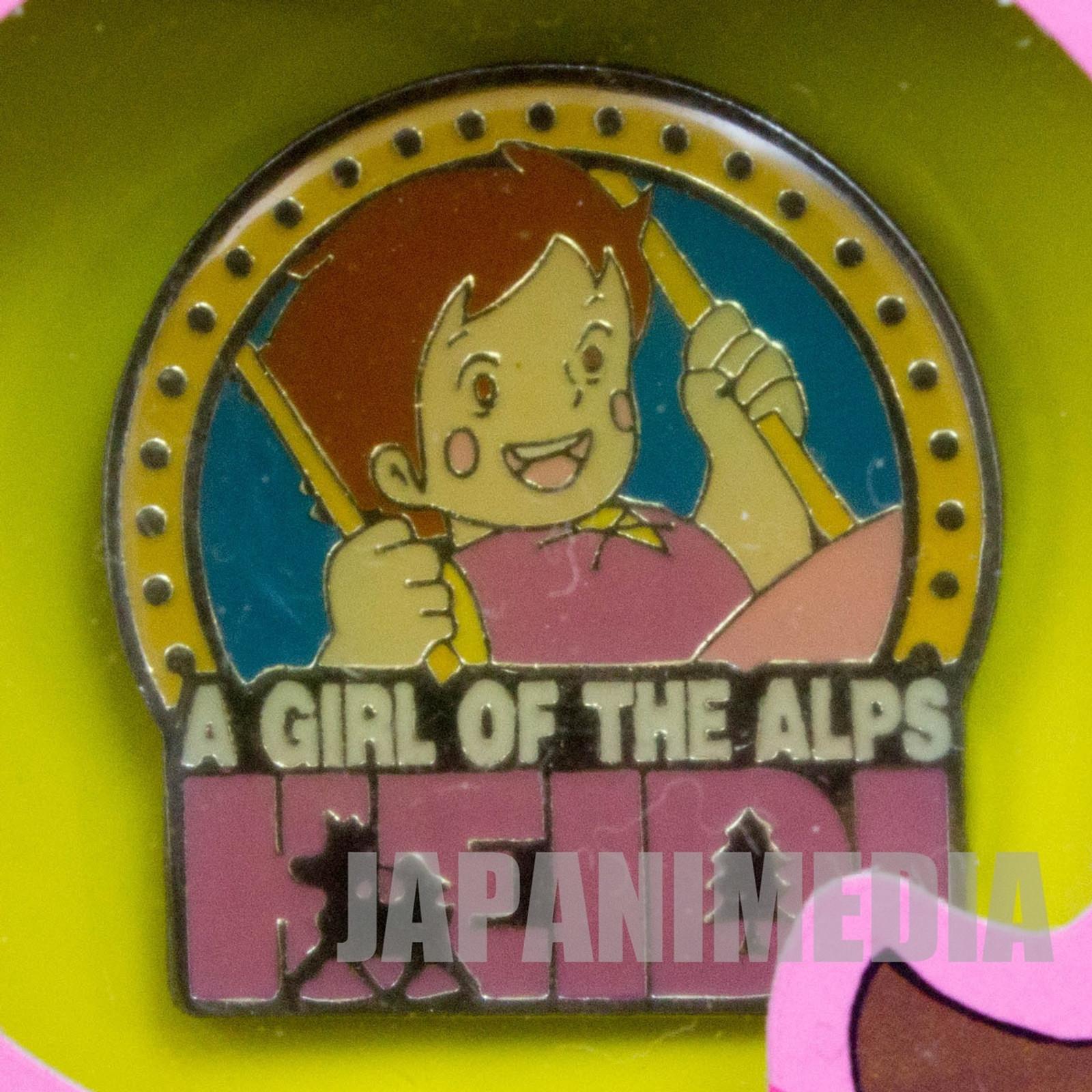 Heidi Girl of the Alps Cute Pins Kabaya JAPAN ANIME #6
