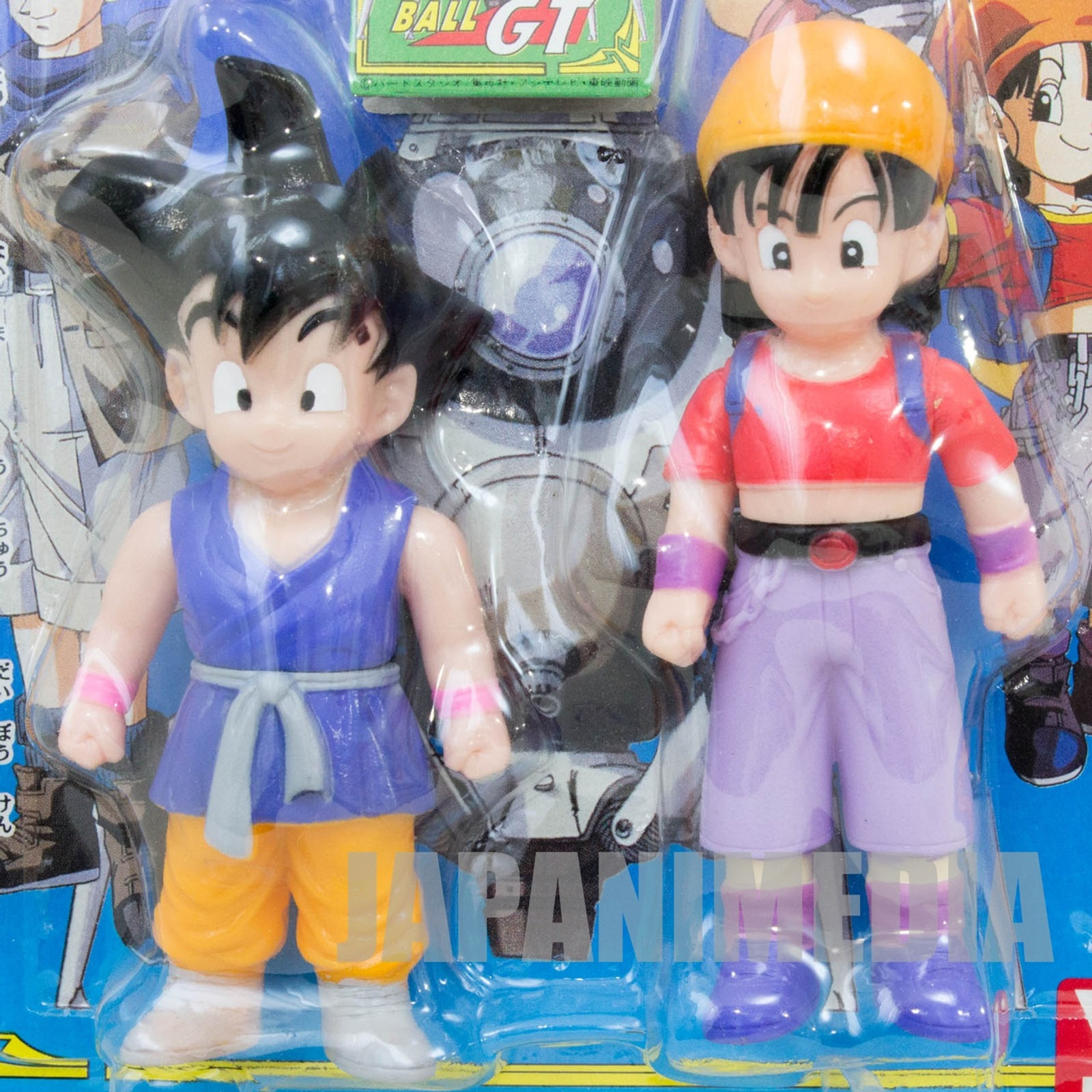 Dragon Ball GT Z Son Gokou Boy & Pan Soft Vinyl Figure 2pc Set Yutaka JAPAN