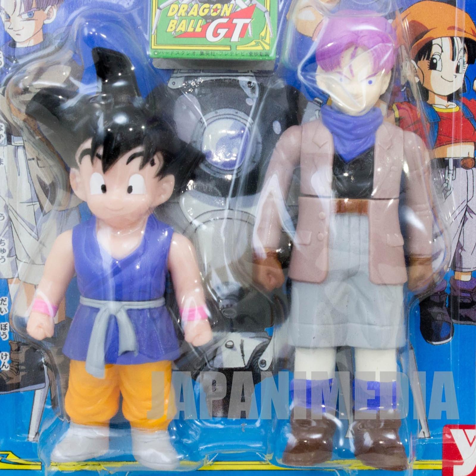 Dragon Ball GT Z Son Gokou Boy & Trunks Soft Vinyl Figure 2pc Set Yutaka JAPAN