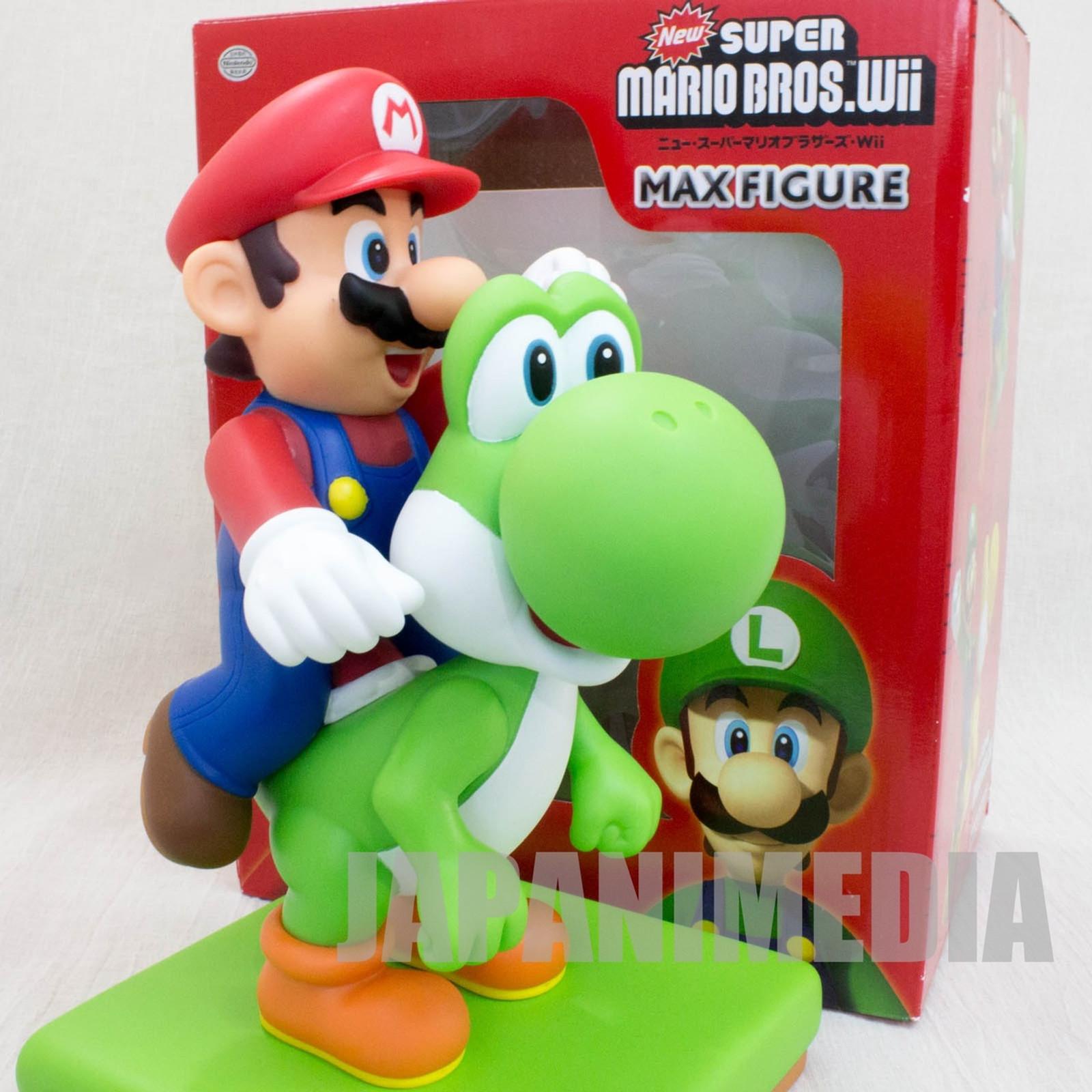 """Super Mario Bros. Mario Riding Yoshi Big Figure 9"""" JAPAN NES FAMICOM NINTENDO"""