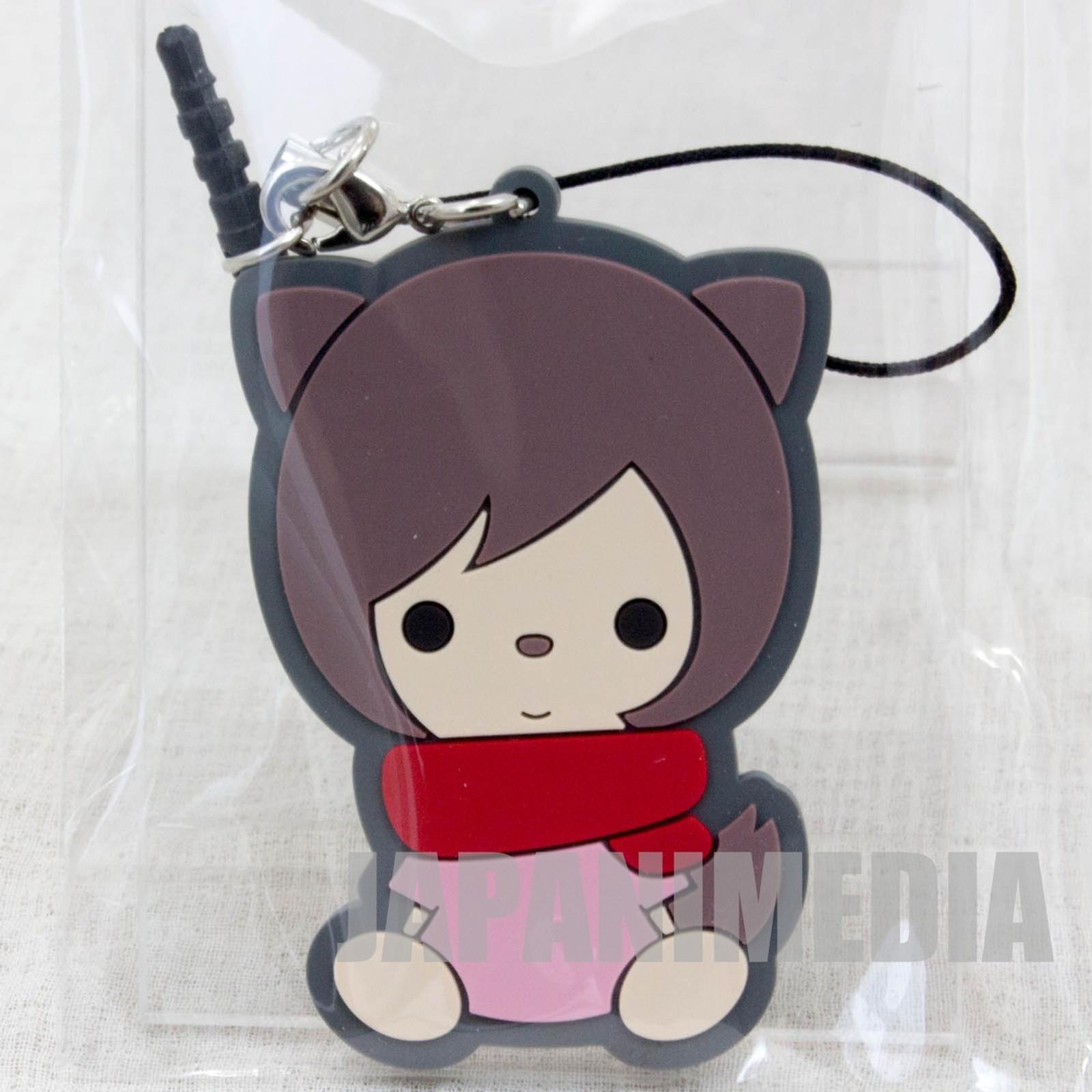 Wolf Children Ame&Yuki YUKI Mascot Rubber Strap JAPAN Ookami Kodomo JAPAN ANIME