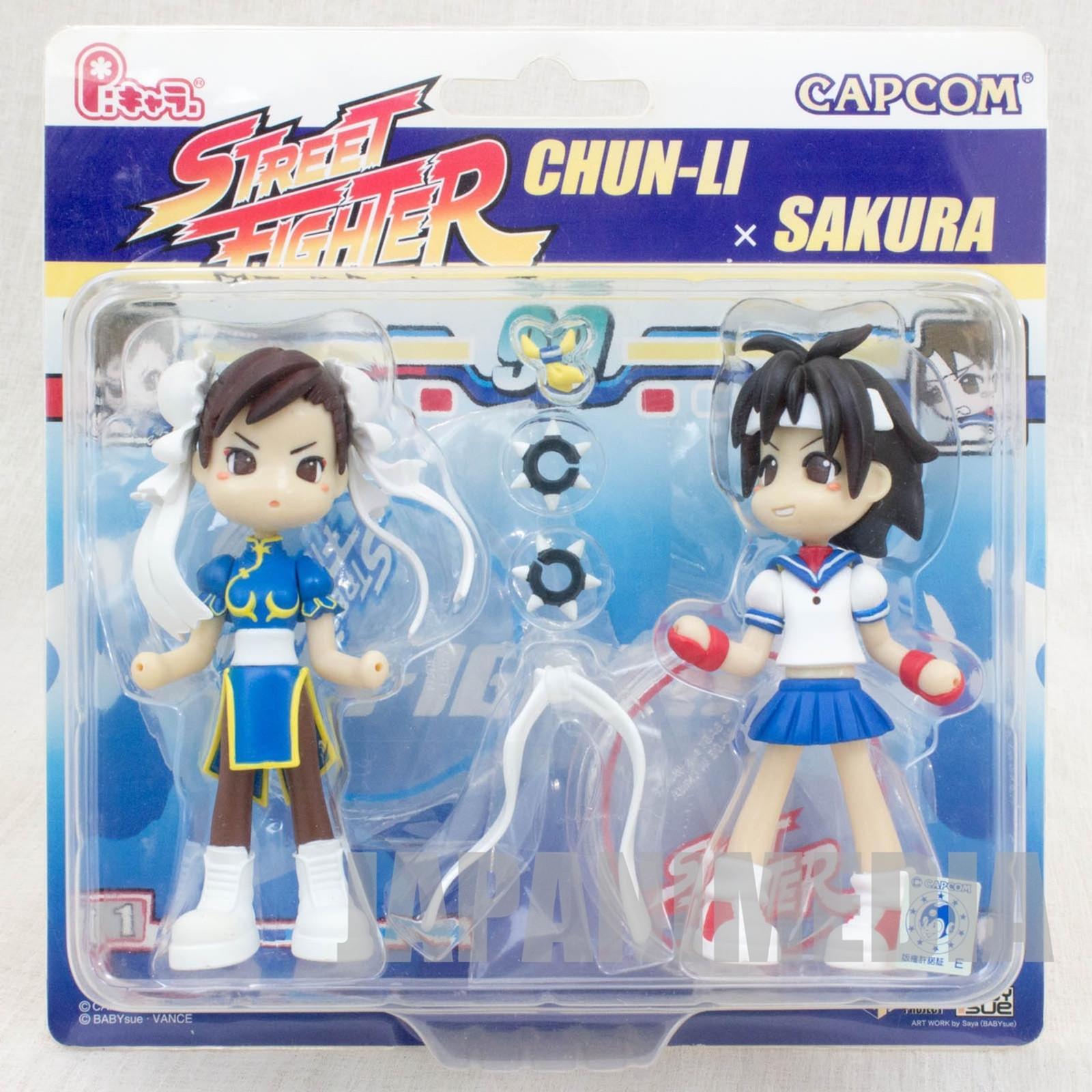 Street Fighters Chun-Li & Sakura P:Chara Figure Capcom JAPAN ANIME