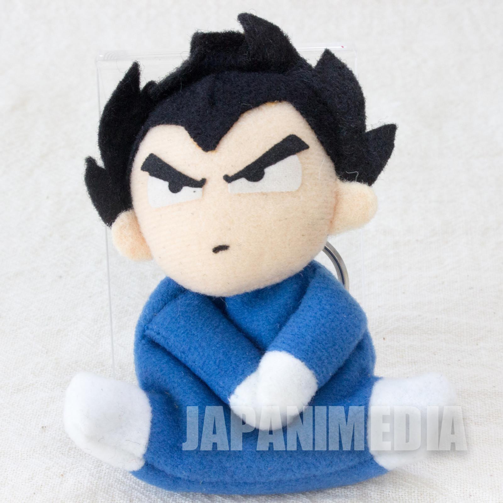 "Dragon Ball Z Vegeta Mini Plush Doll 3"" Keychain Banpresto JAPAN ANIME"