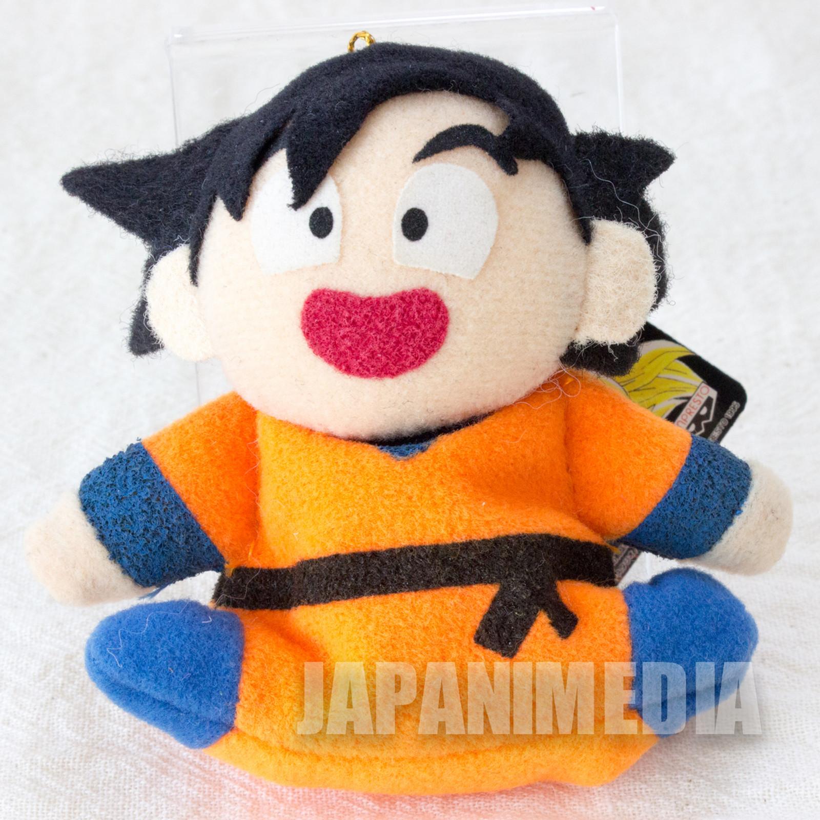 "Dragon Ball Z Gokou Mini Plush Doll 3"" Keychain Banpresto JAPAN ANIME"