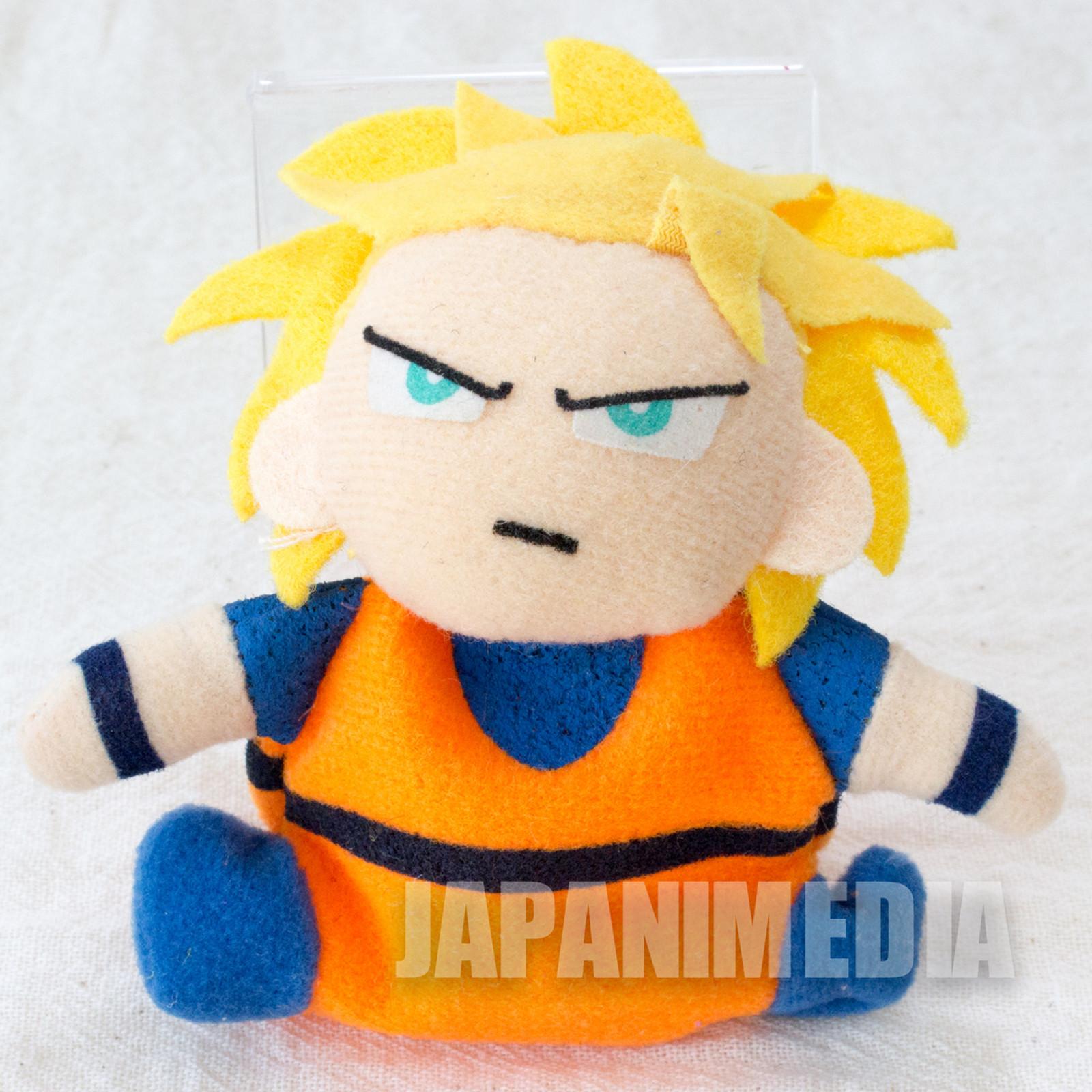 "Dragon Ball Z S.S Gokou Mini Plush Doll 3"" Keychain Banpresto JAPAN ANIME"