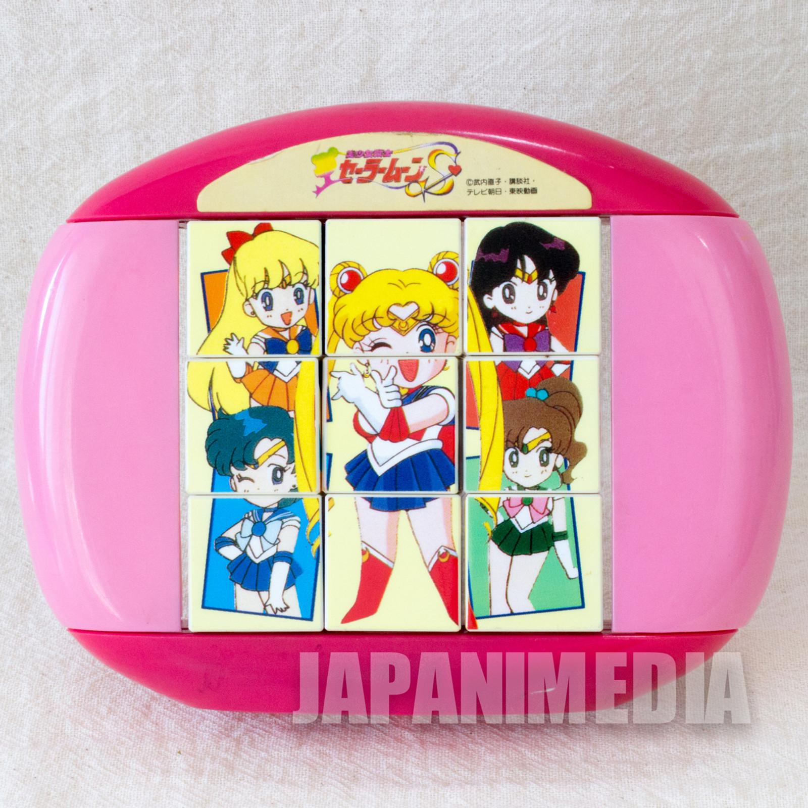 Retro RARE Sailor Moon Cube Picture Puzzle Toy JAPAN ANIME