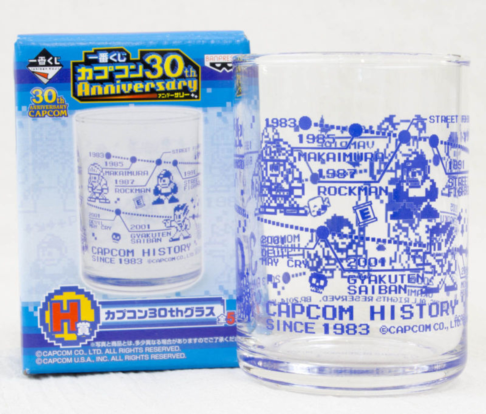Capcom 30th Anniversary Glass Dot Character Ver. Rockman Biohazard JAPAN GAME