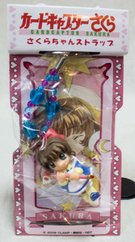 RARE! Cardcaptor Sakura Mascot Figure Mobile Strap 3 Clamp SEGA JAPAN ANIME