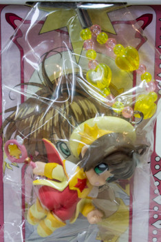 RARE! Cardcaptor Sakura Mascot Figure Mobile Strap 4 Clamp SEGA JAPAN ANIME