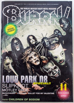 2008/11 BURRN! Japan Rock Magazine LOUD PARK 08/SLIPKNOT/MOTLEY CRUE/BUCKCHERRY