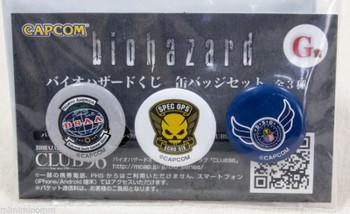 Biohazard Mini Button Pins Badge Set Capcom 1 JAPAN GAME