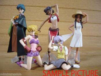 Set of 5 GAINAX Heroines Mini Figure Vol.1 Nadia Evangelion Honneamise JAPAN