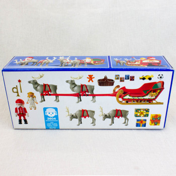 PLAYMOBIL 3604 Santa Claus & Reindeer Magic Sleigh Christmas Playset
