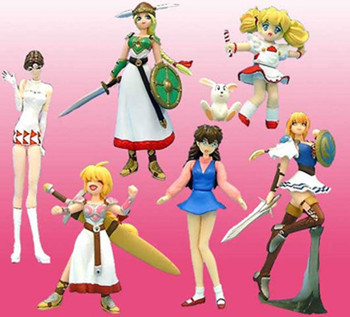 Set of 6 Namco Heroines GALS SR Mini Figure Valkyrie Soul Calibur JAPAN ANIME