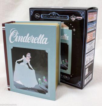 Disney Cinderella Princess & Villains Book Type Clock Banpresto JAPAN ANIME