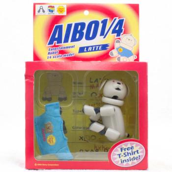 RARE! AIBO Latte T-shirt Entertainment Robot 1/4 Scale Figure Medicom JAPAN